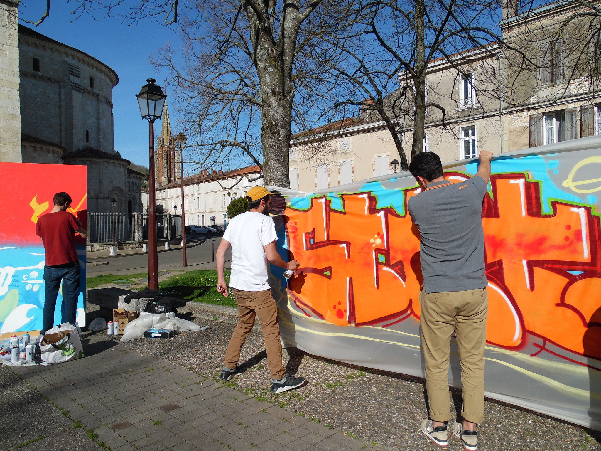 street art à la cathédrale d'agen