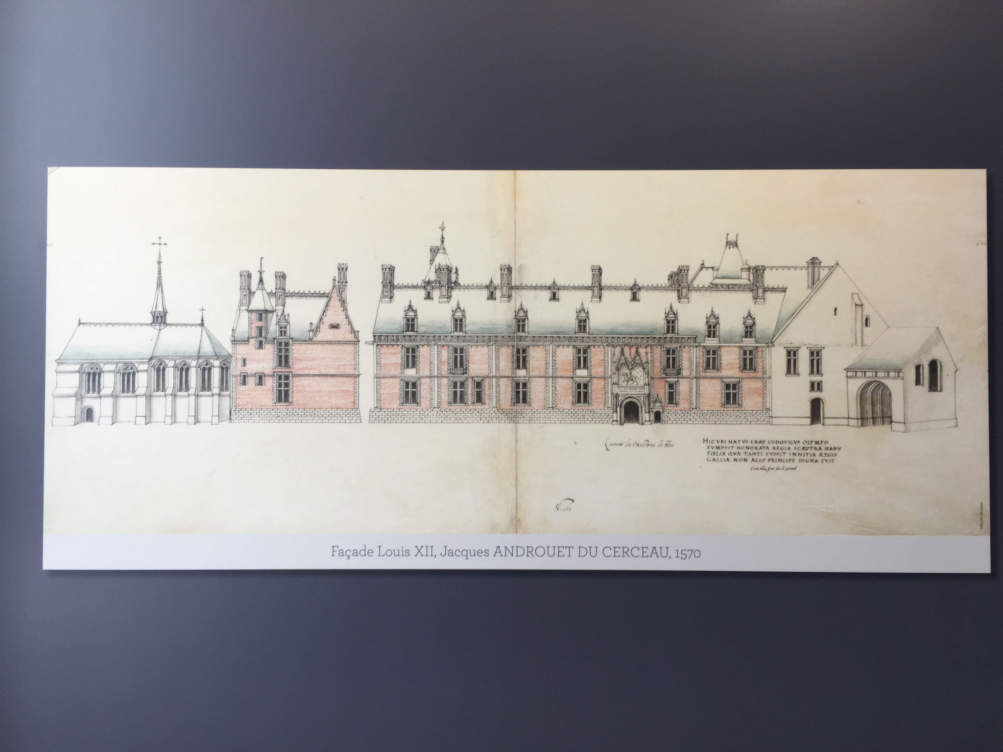 Plan de la façade Louis XII.