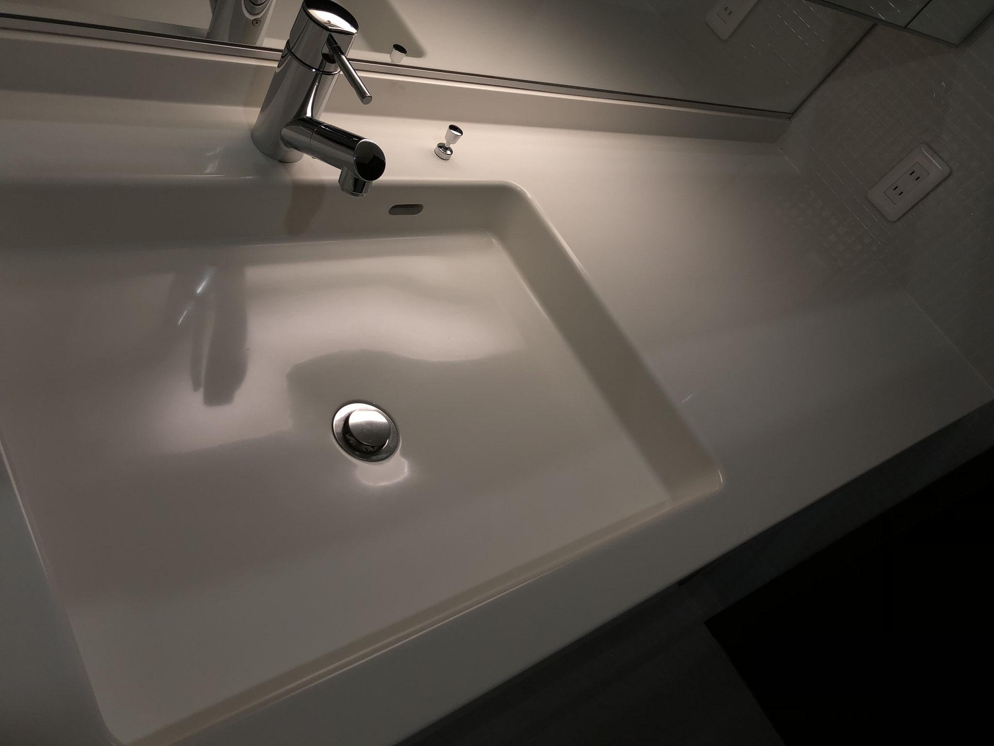 洗面台ユニット清掃