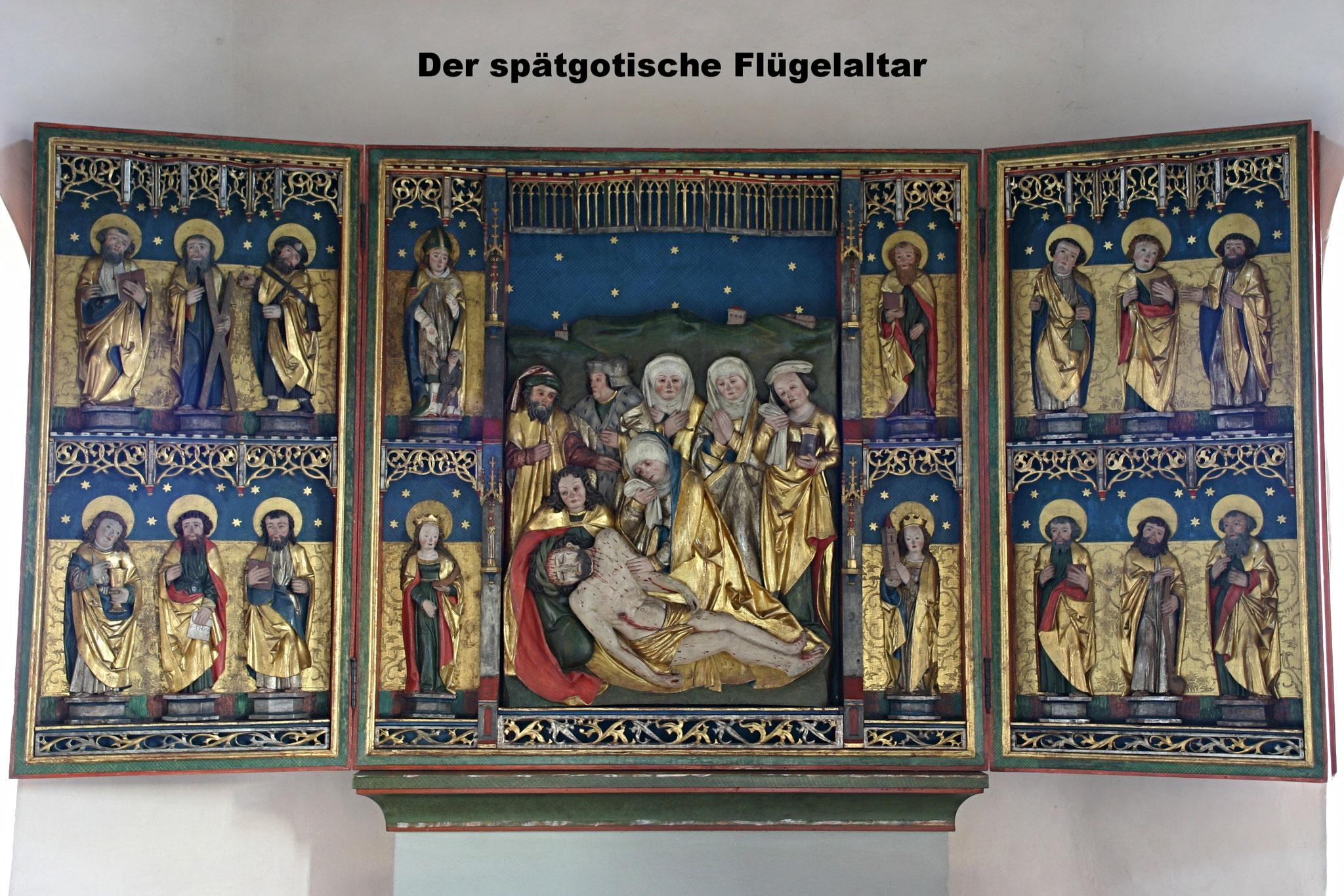 Der spätgotische Flügelaltar in der Lüderbacher Kirche