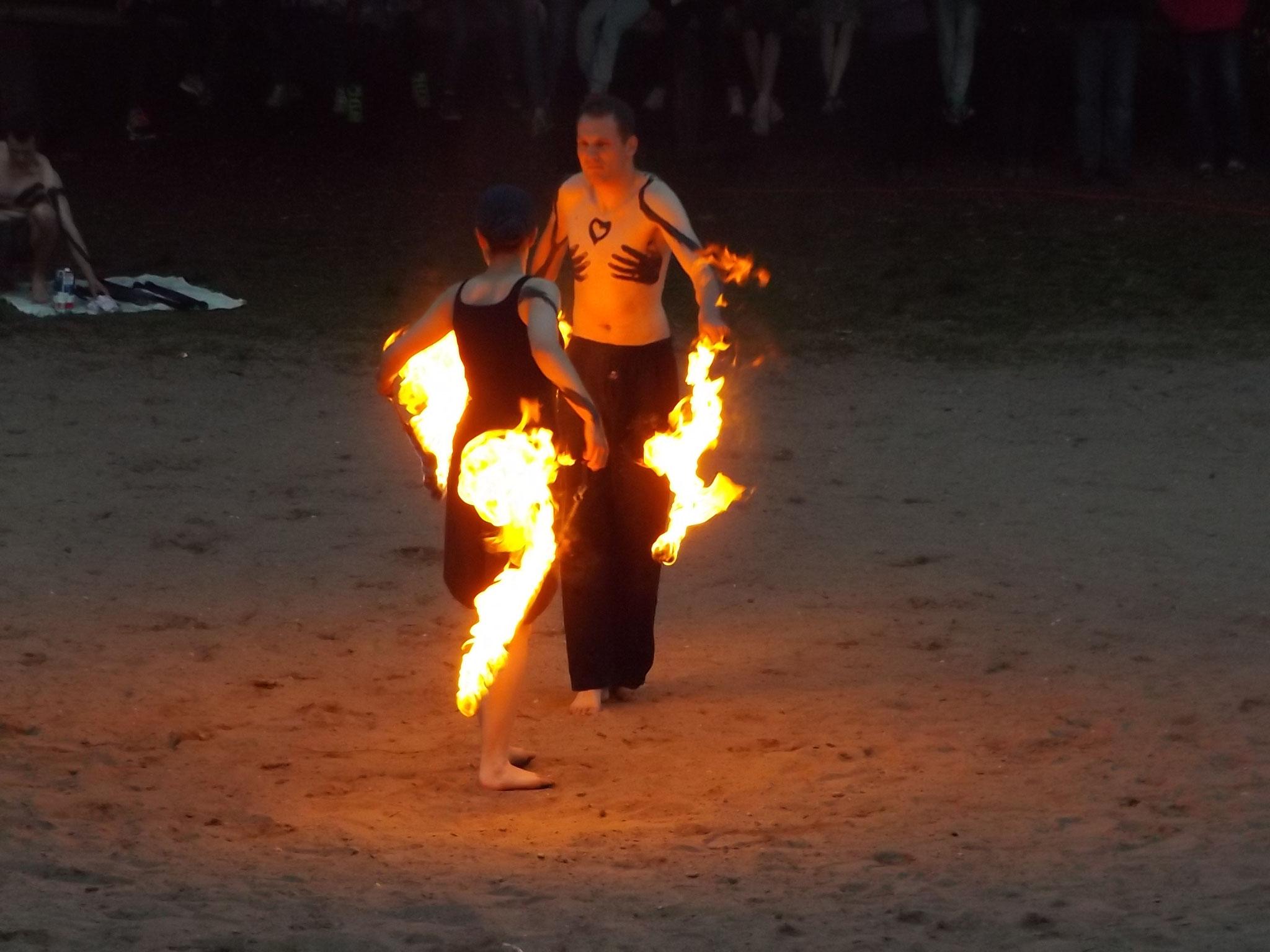 Spektakuläre Feuerspiele