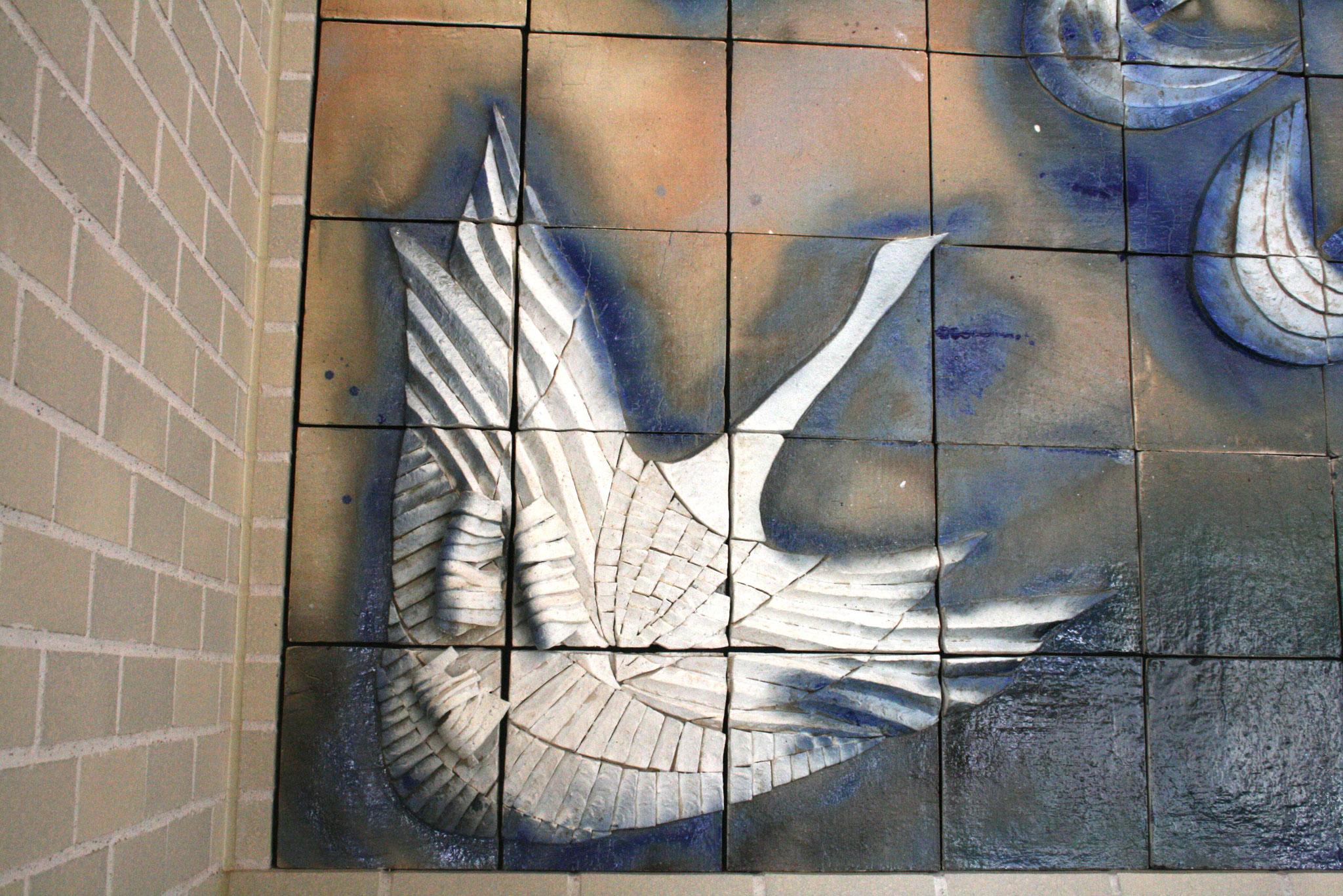 病院の象徴 大白鳥