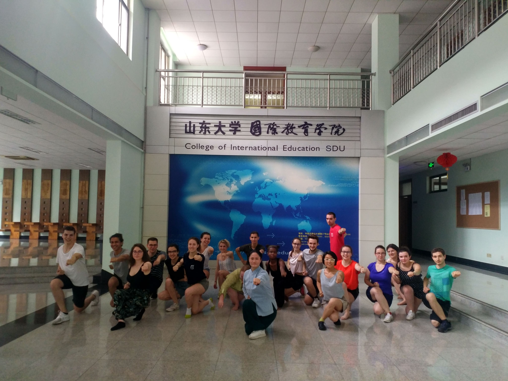 法国学生中文学习夏令营在山东大学