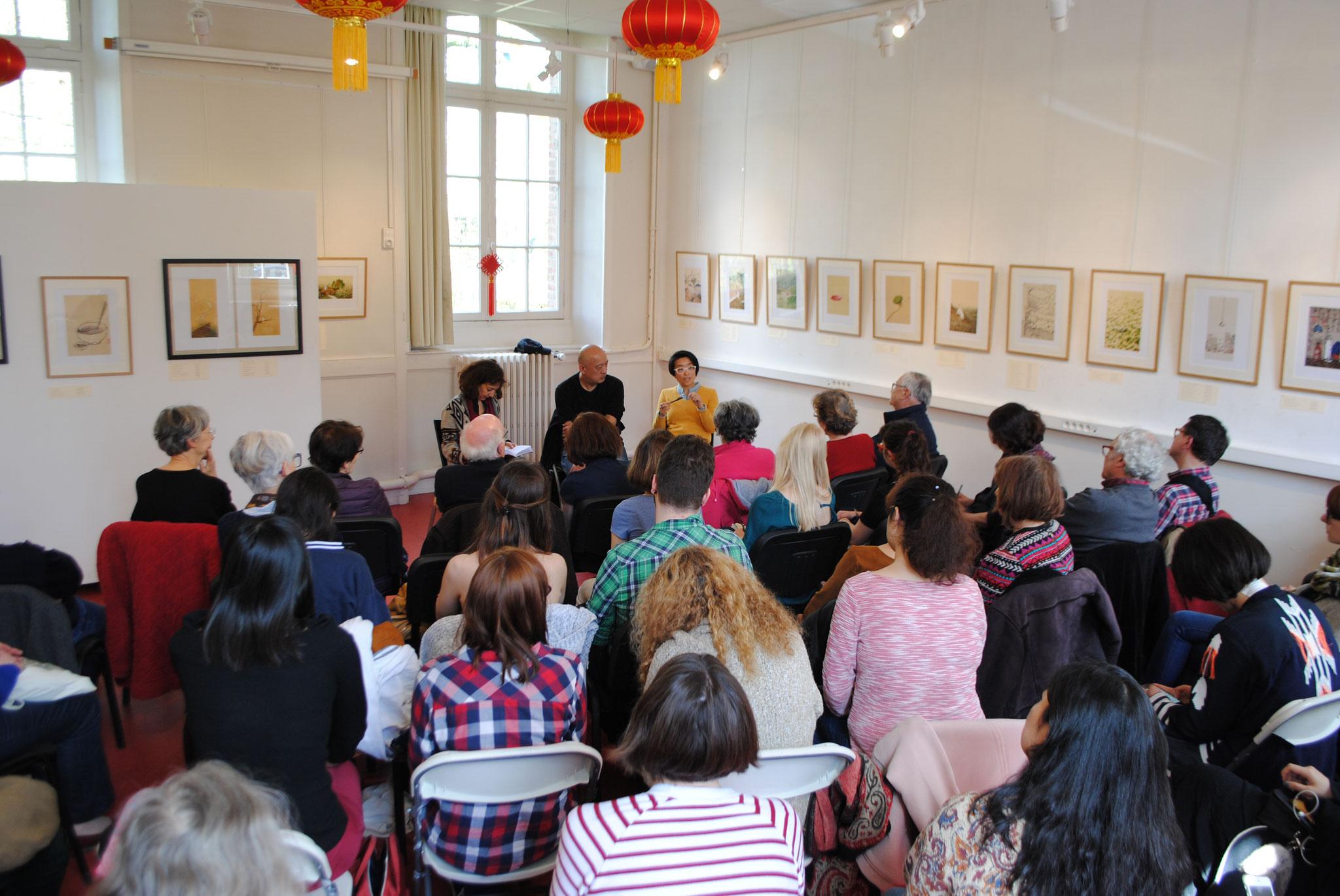 Rencontre avec le peintre chinois Laoshu à l'Institut Confucius de Bretagne