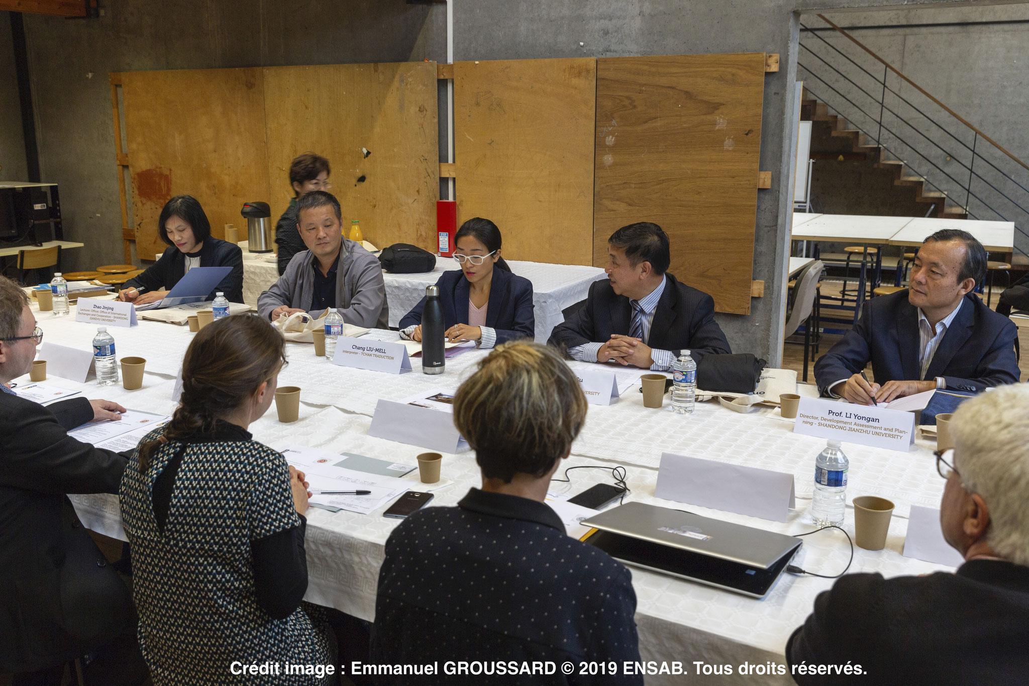 Délégation de l'université chinoise à l'Ecole Nationale Supérieure d'Architecture de Bretagne (ENSAB) 1