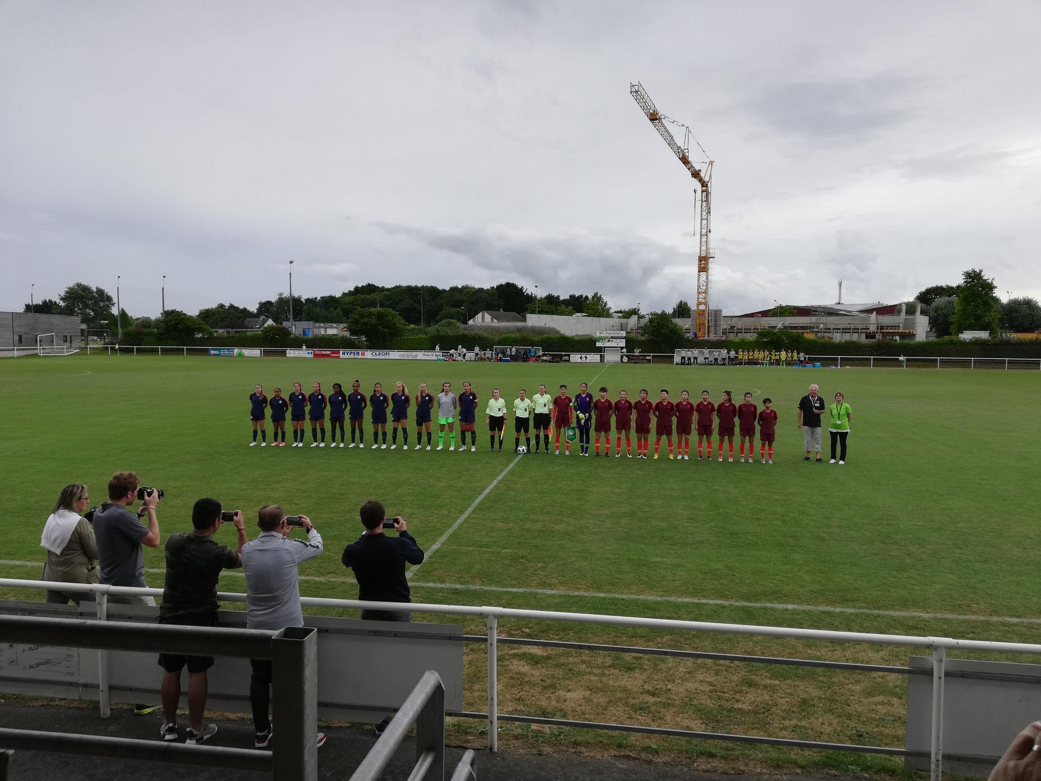 中国国家青年女子足球队在布列塔尼