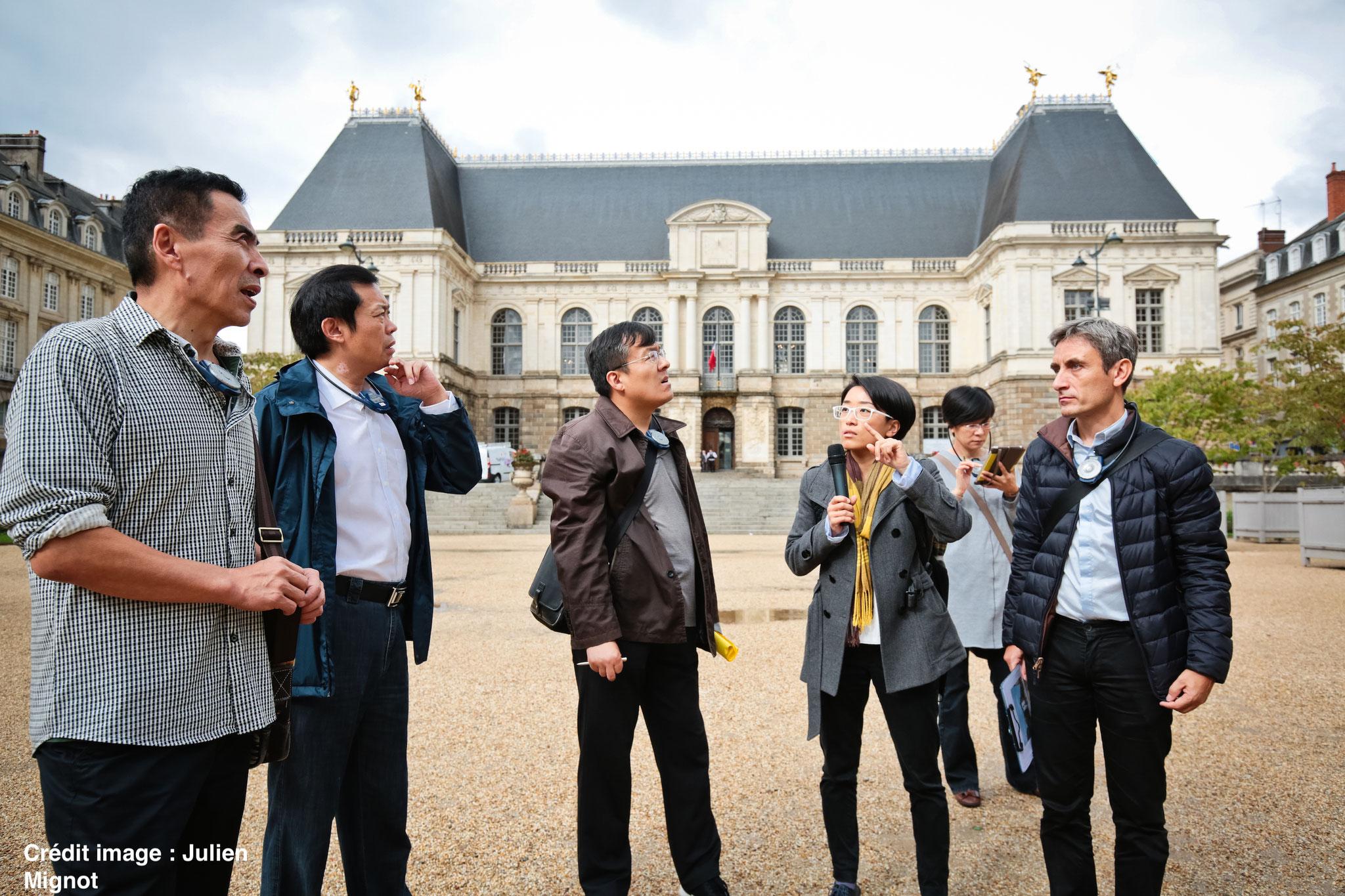 Délégation d'urbanistes chinois à Rennes - Parlement de Bretagne