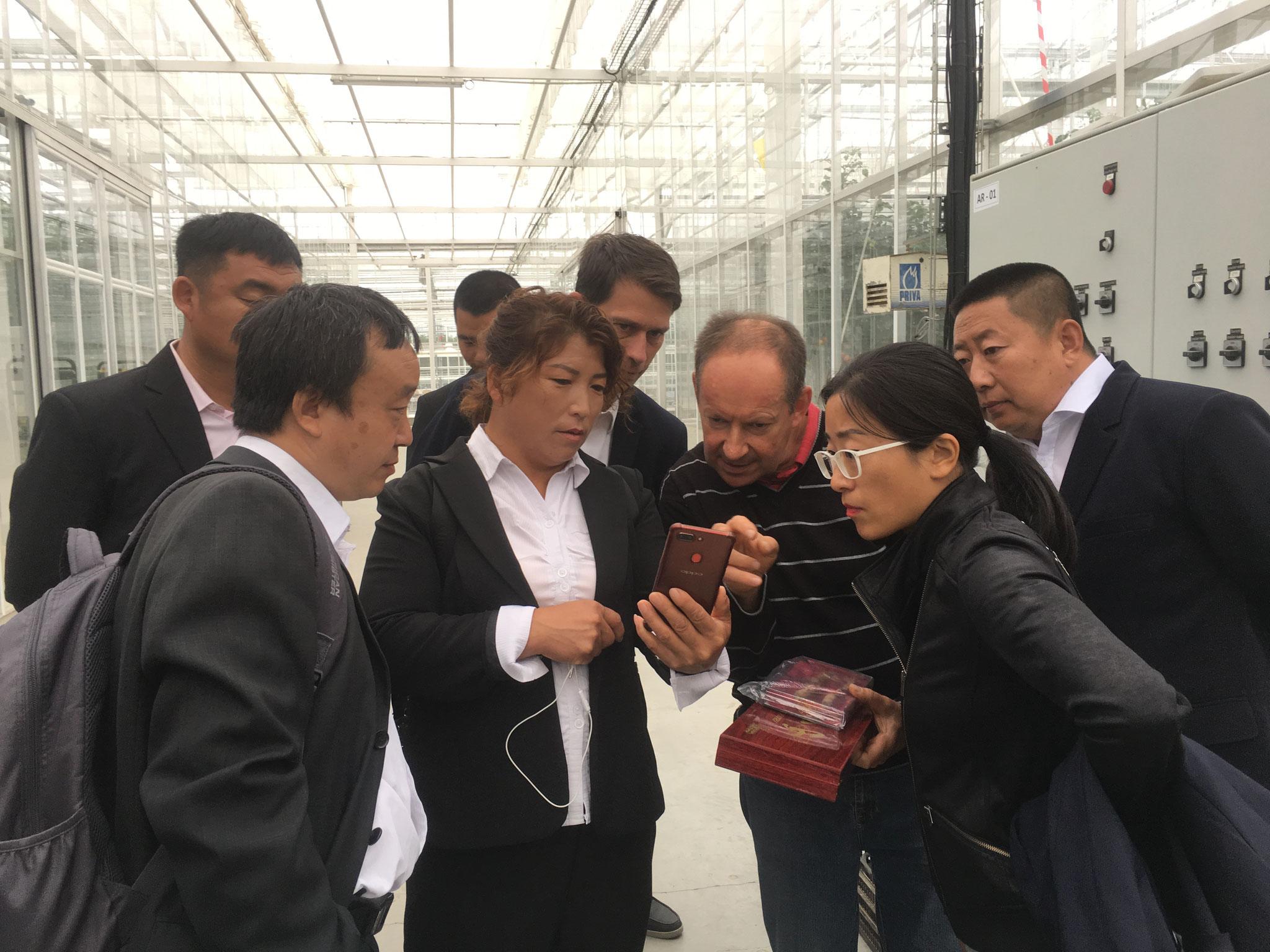 Délégation d'agriculteurs chinois en Bretagne - Station expérimentale du CATÉ