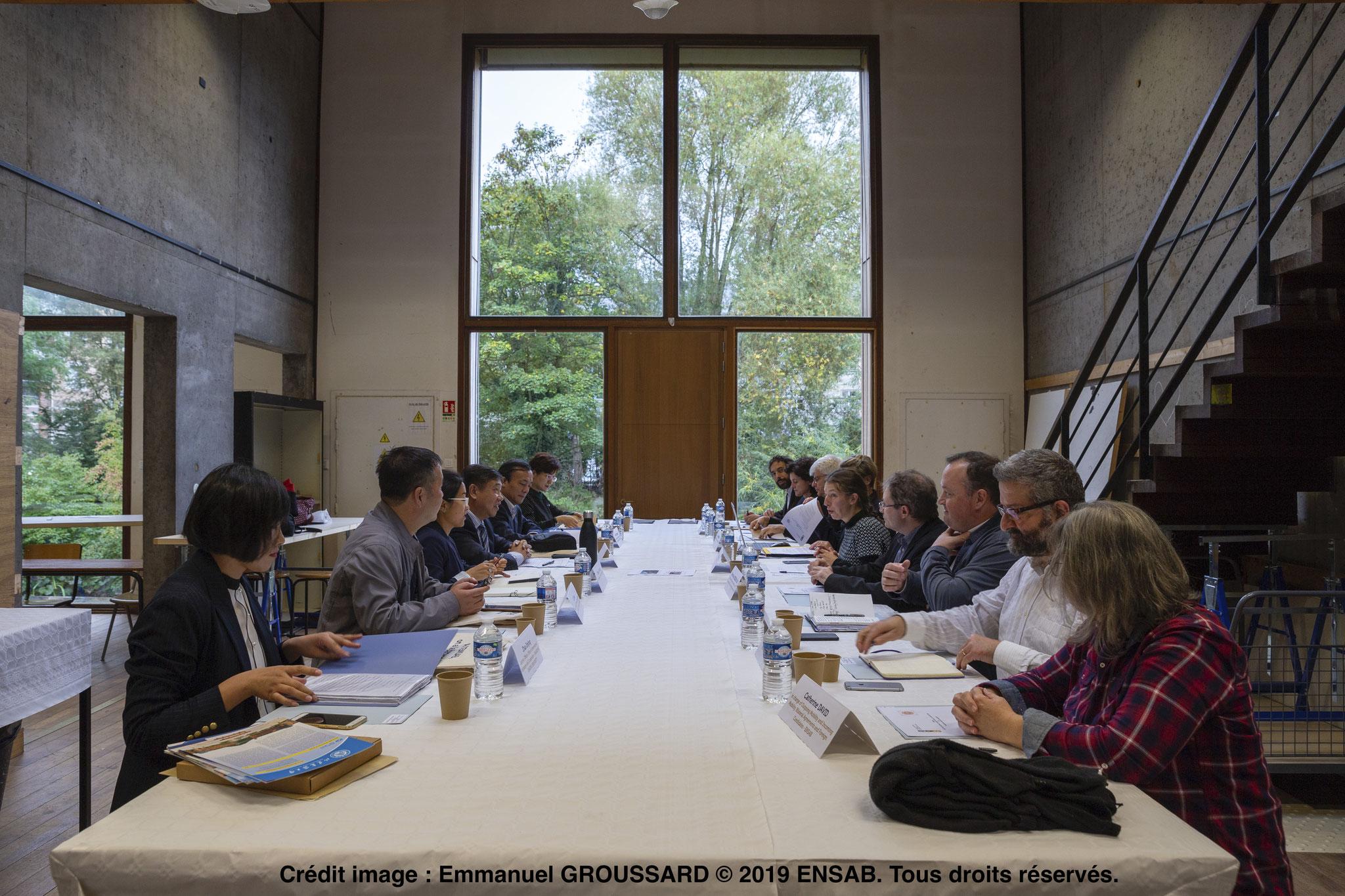 Délégation de l'université chinoise à l'Ecole Nationale Supérieure d'Architecture de Bretagne (ENSAB) 2
