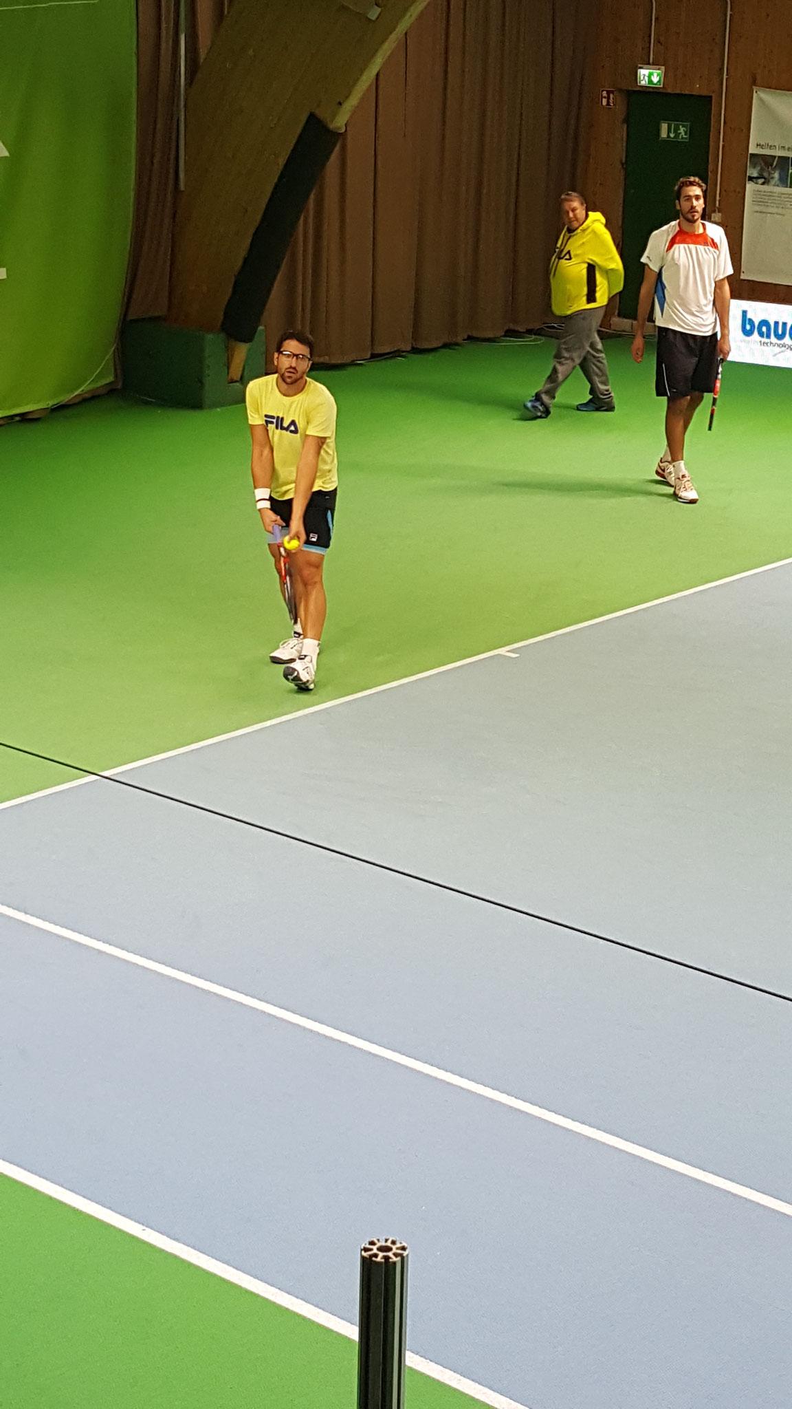 Janko Tipsarevic. Ehemalige Nr.8 der Weltrangliste beim Training.