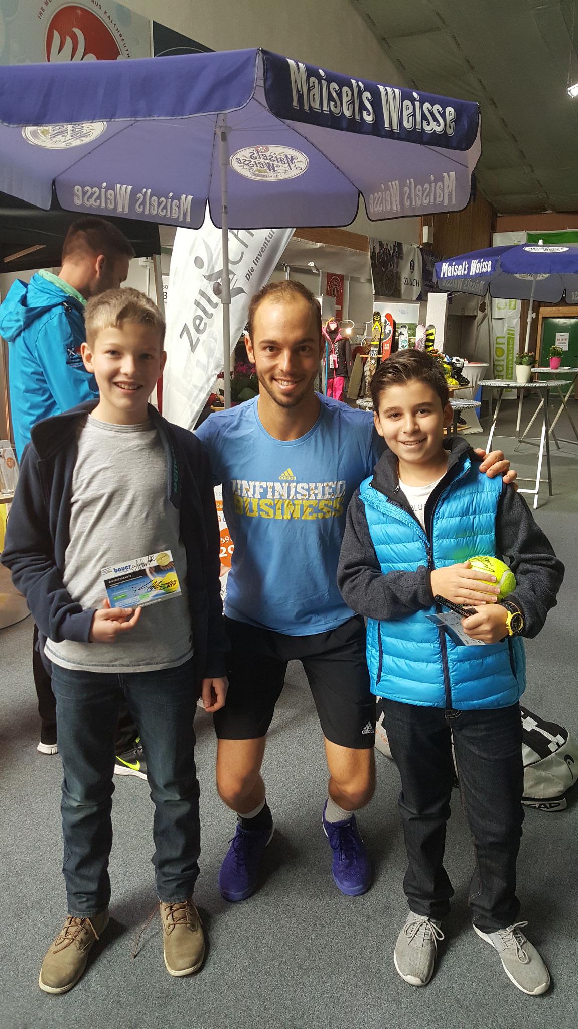 Tim Pütz zusammen mit zwei meiner Youngsters