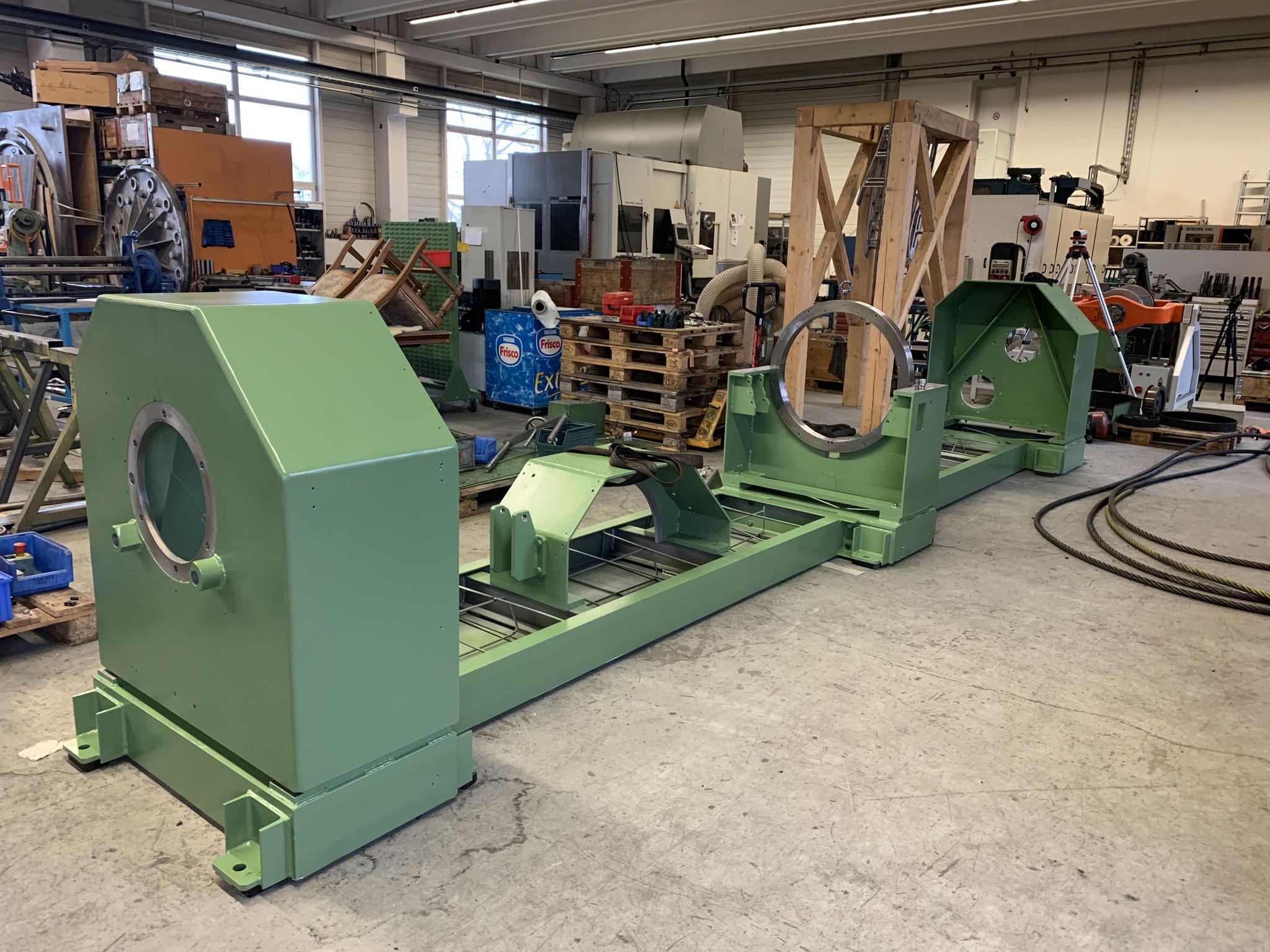 Maschinenrahmen verstärkt und neu lackiert