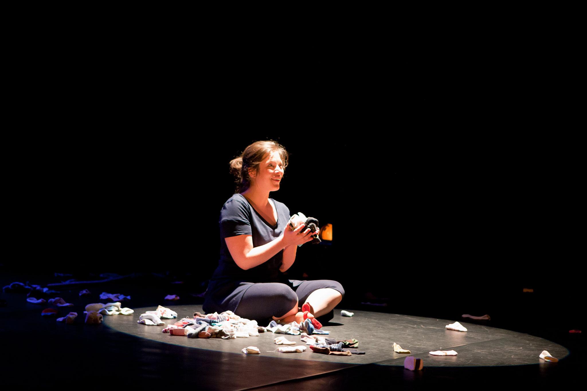 Photo du spectacle A petits pas de Florence A.L. Klein - ASBL Infusion