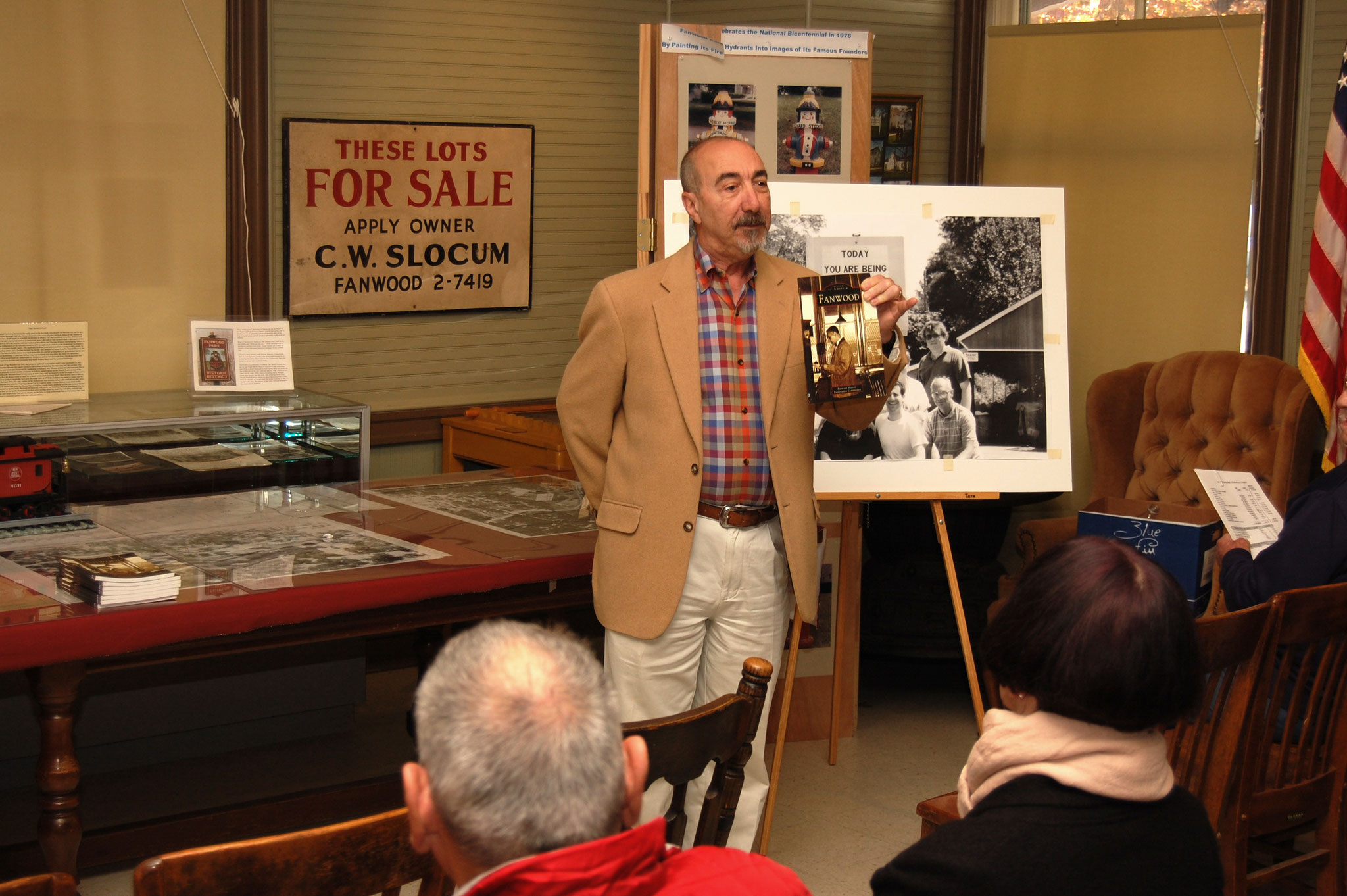 John speaking at the Fanwood Museum