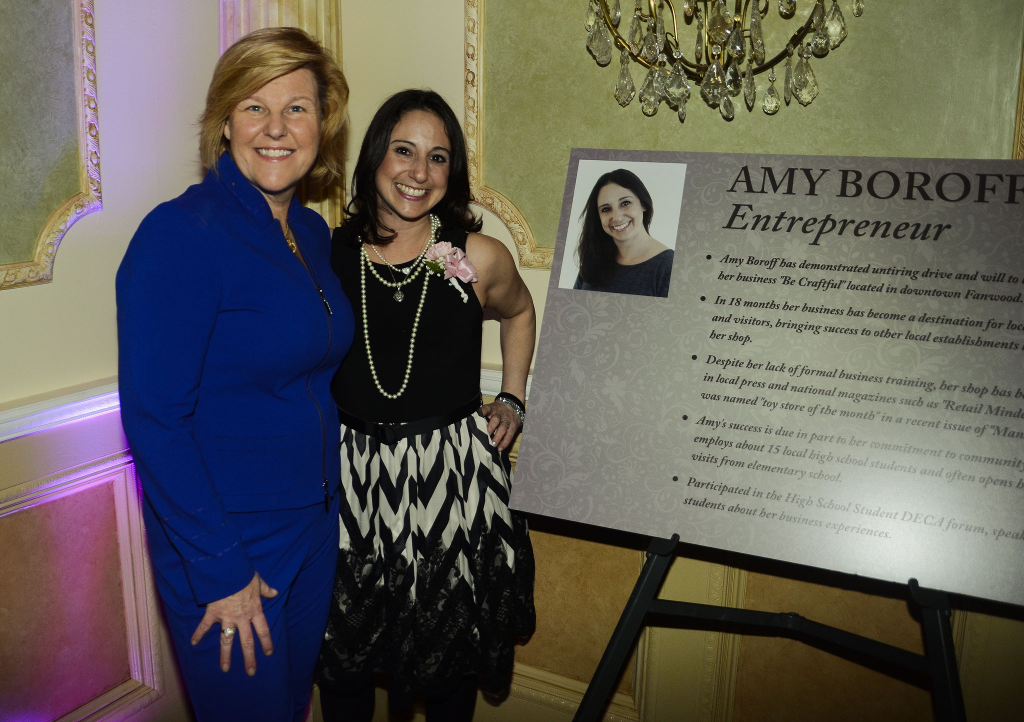 Colleen and Amy, recipient of Woman of Excellence Award