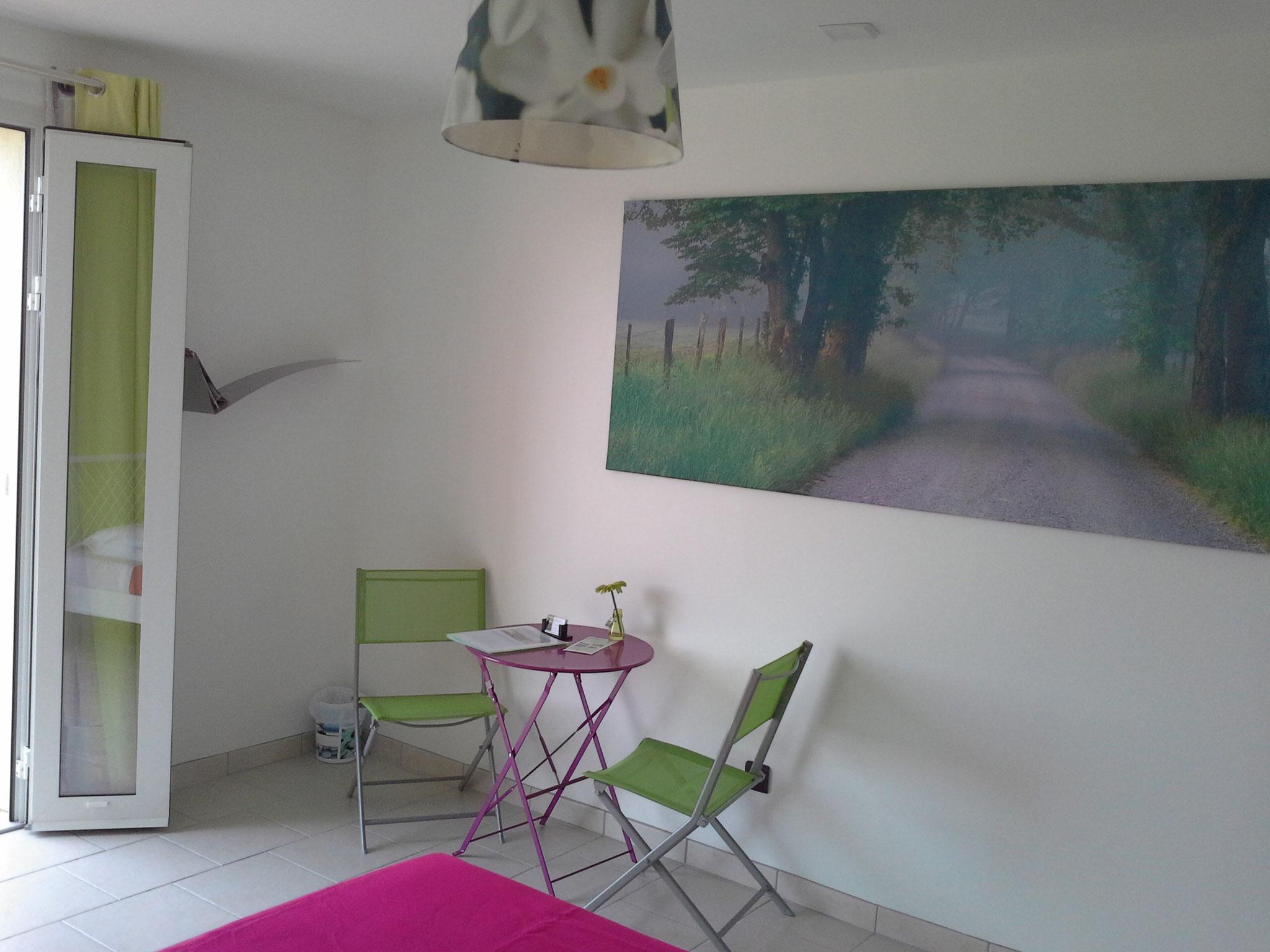 la chambre vert anis