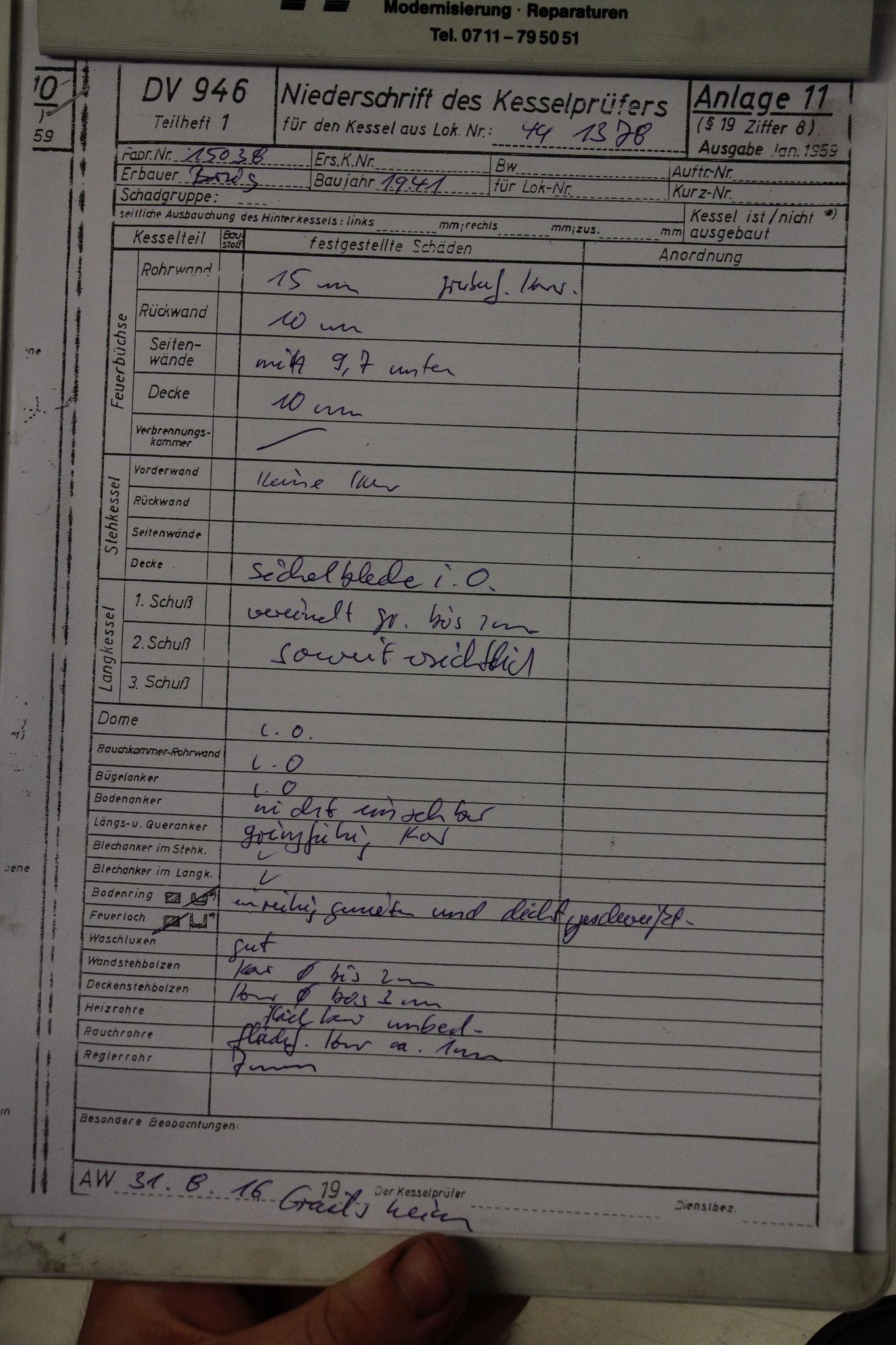 Abschließend noch der Notizzettel geschrieben….