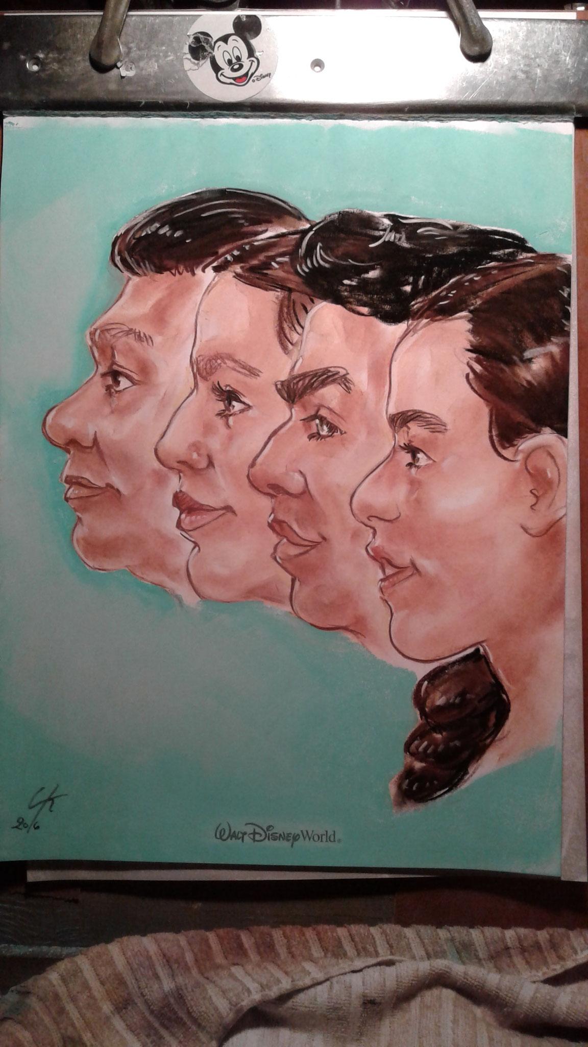 Portraits Pastel Parc Disney