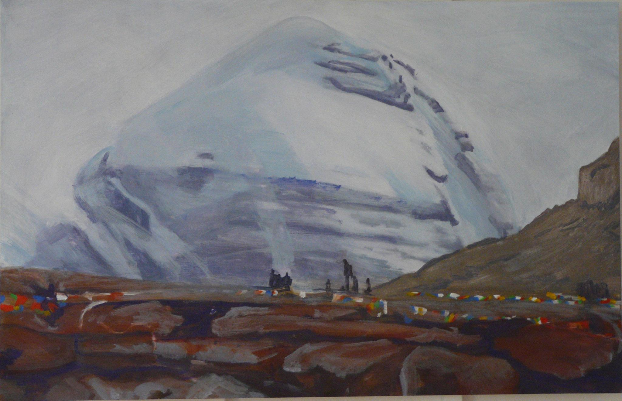 7. Kailash in Snowcloud, 70 x 90 cm, 2019
