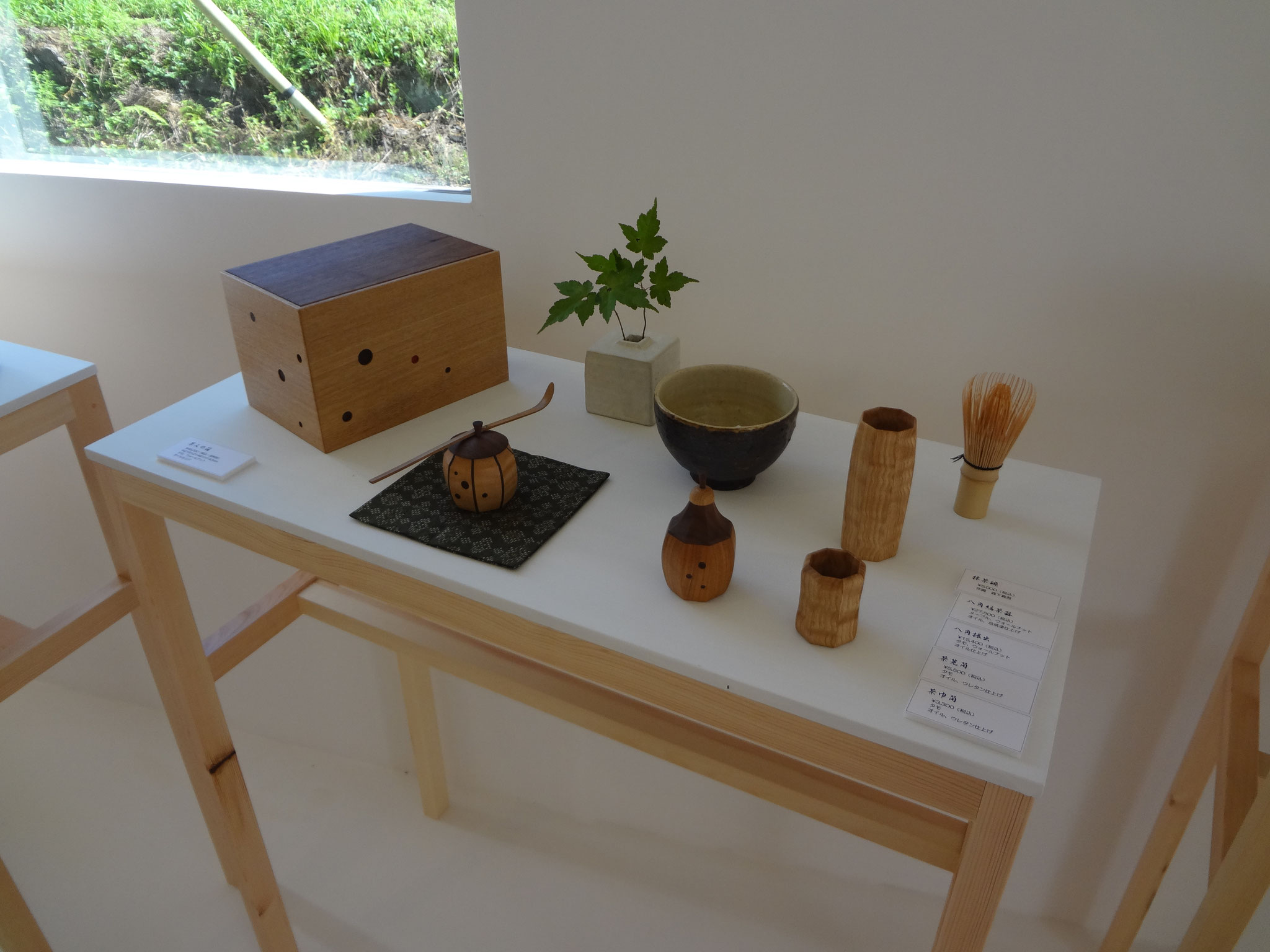 茶人の箱、茶器、茶筅筒、茶巾筒。/八ヶ岳の家具工房ZEROSSOの茶道具、創作家具
