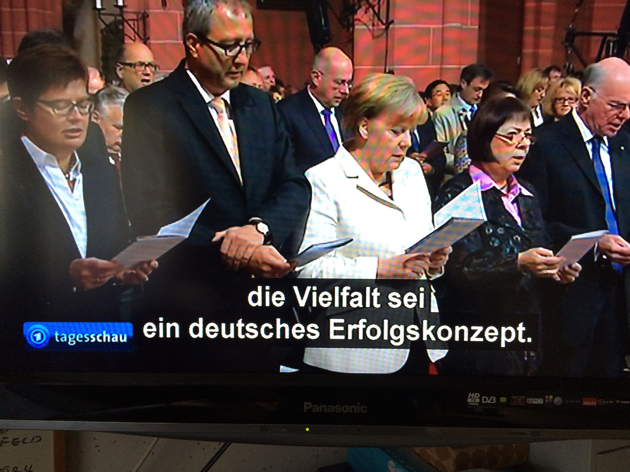 メルケル首相 テレビ画像です。