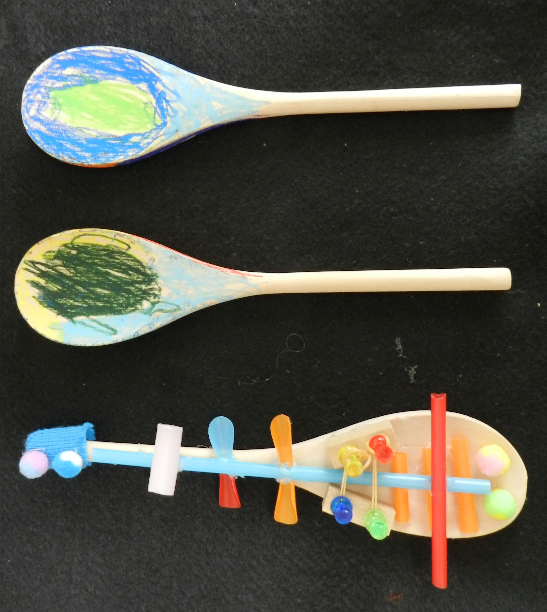 木のスプーンを使って楽器を制作★(小2)