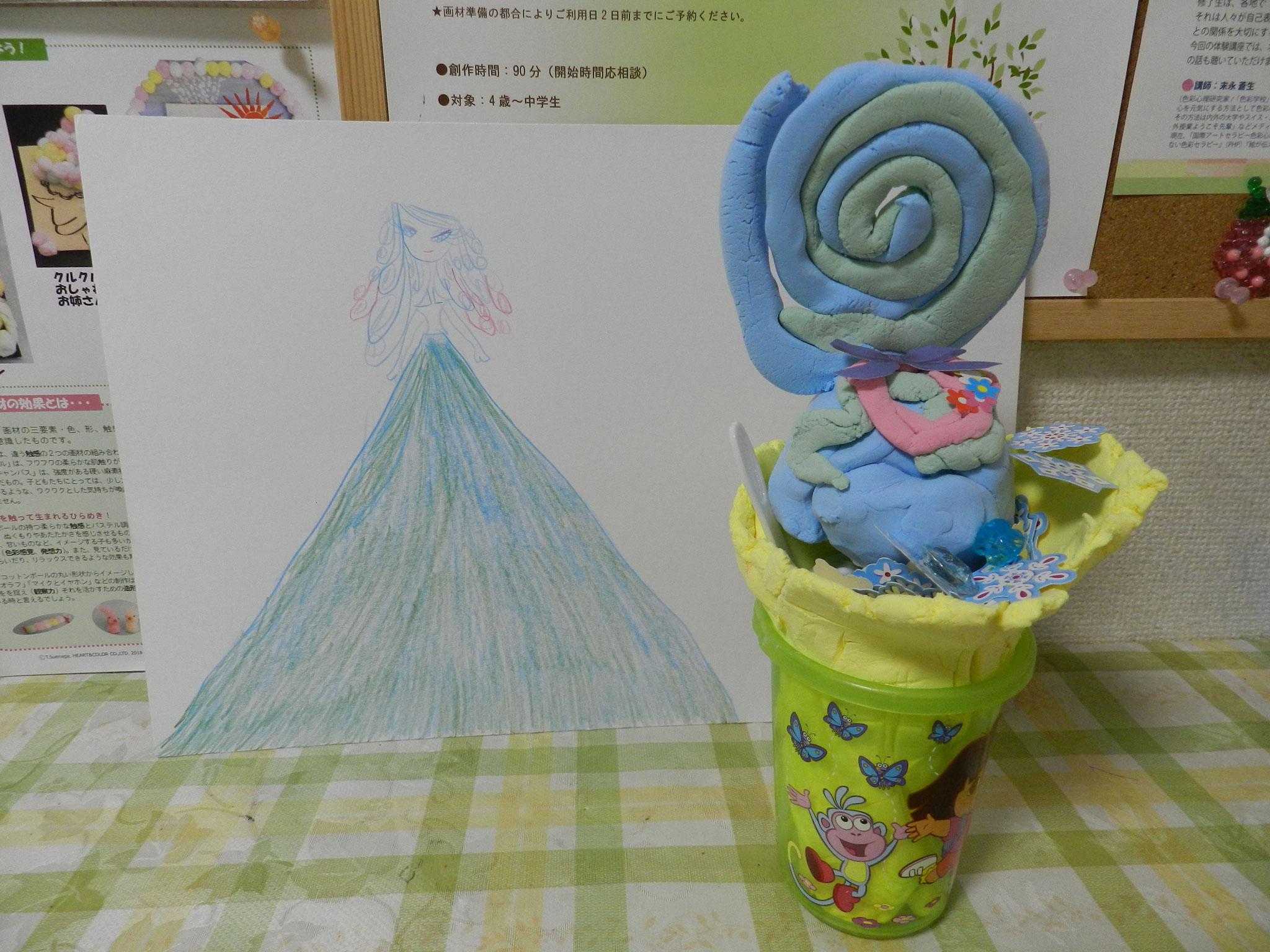 憧れのプリンセスと大好きなアイスクリーム(年長さん)