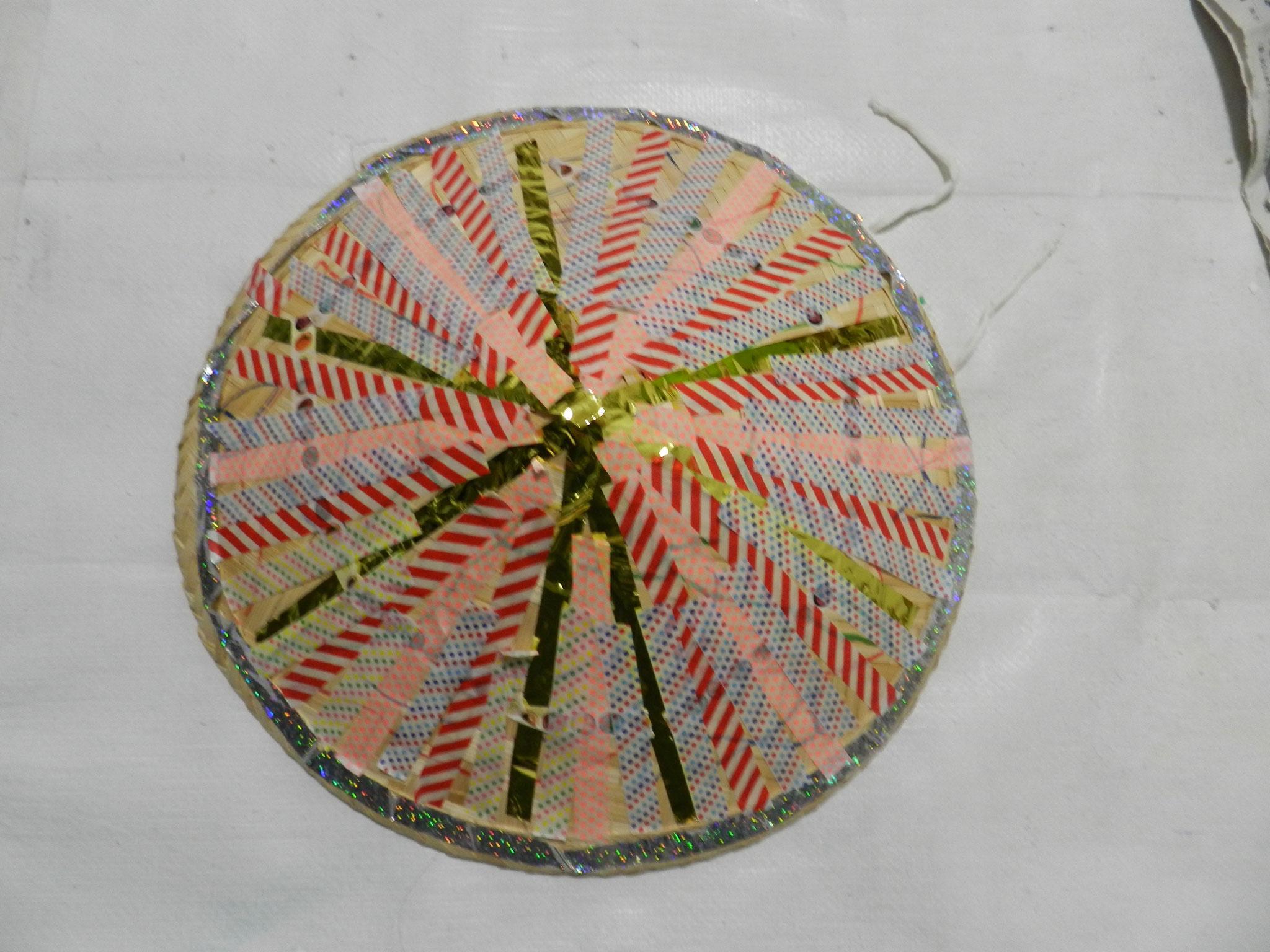 花笠をマスキングテープで装飾★(小2)