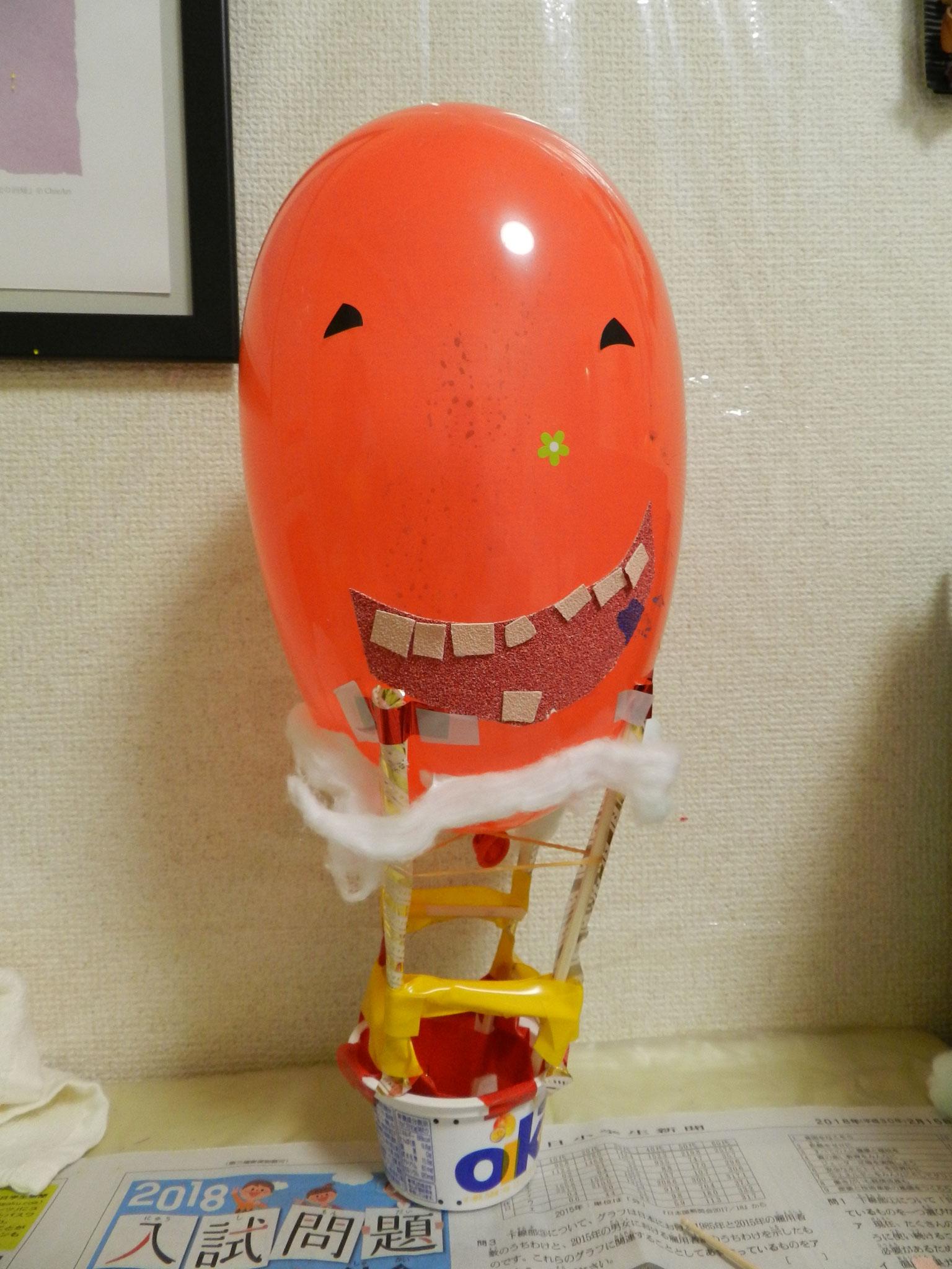 「気球」★(小学2年生)創意工夫と独創性のあるステキな作品