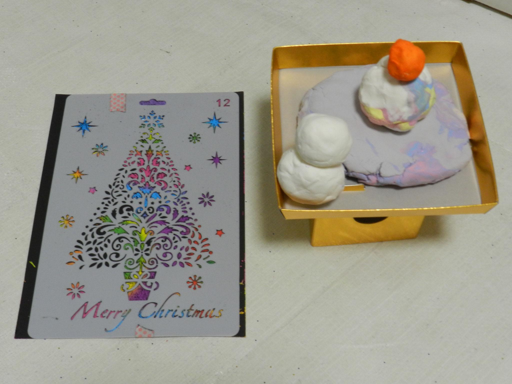 雪だるまと鏡餅(年長さん)