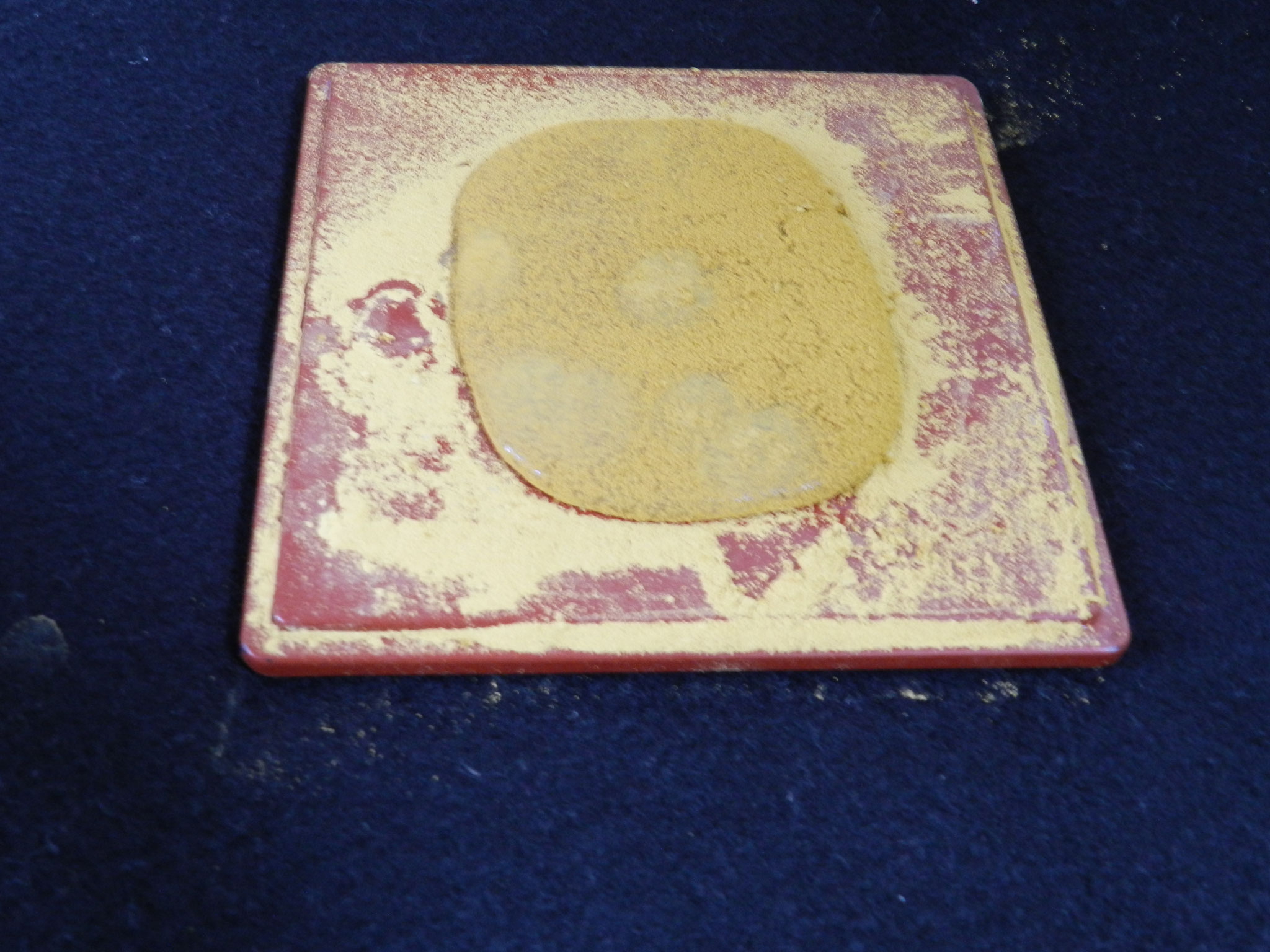 スライムで「きなこもち」を作りました★ 削ったパステルがきな粉そっくり!(小5)