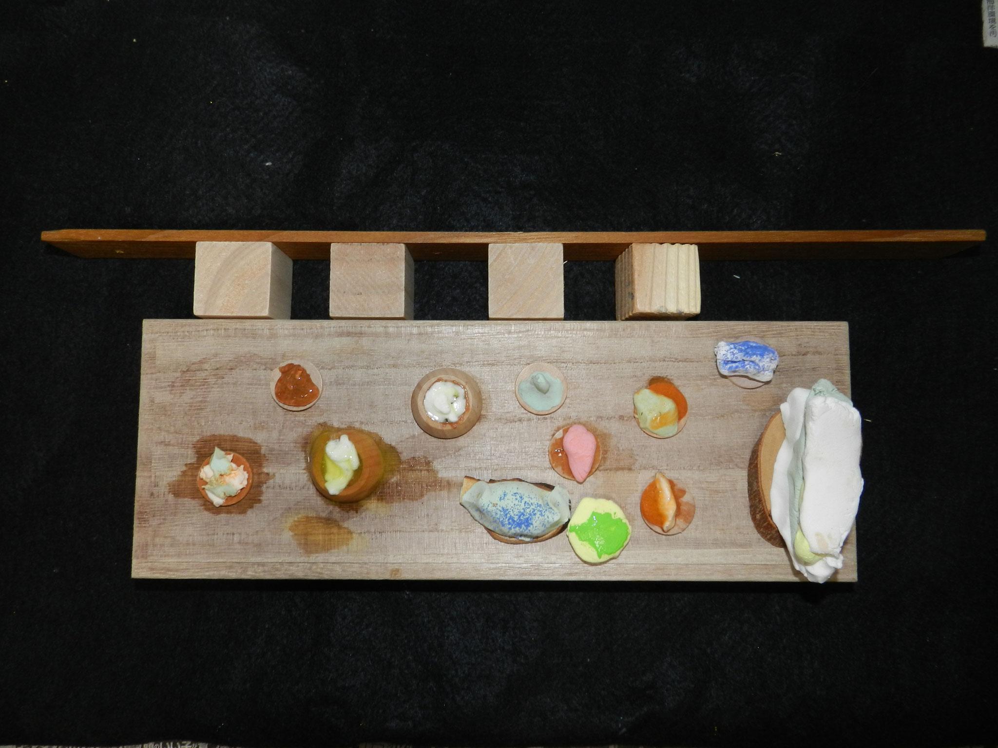飲食店のテーブルとイス(小1)