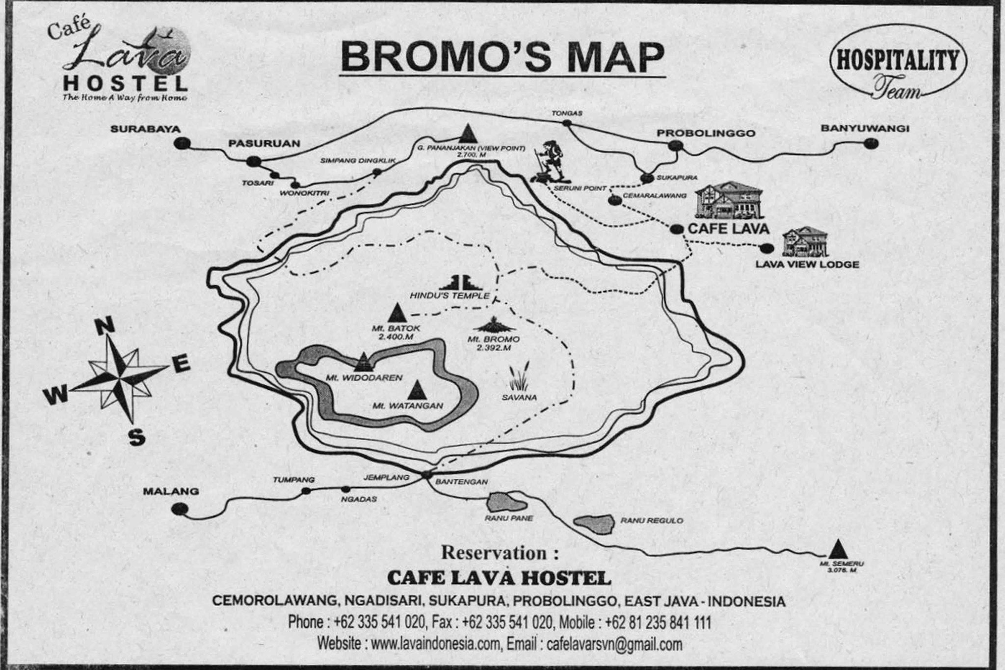 Map Bromo Nationalpark