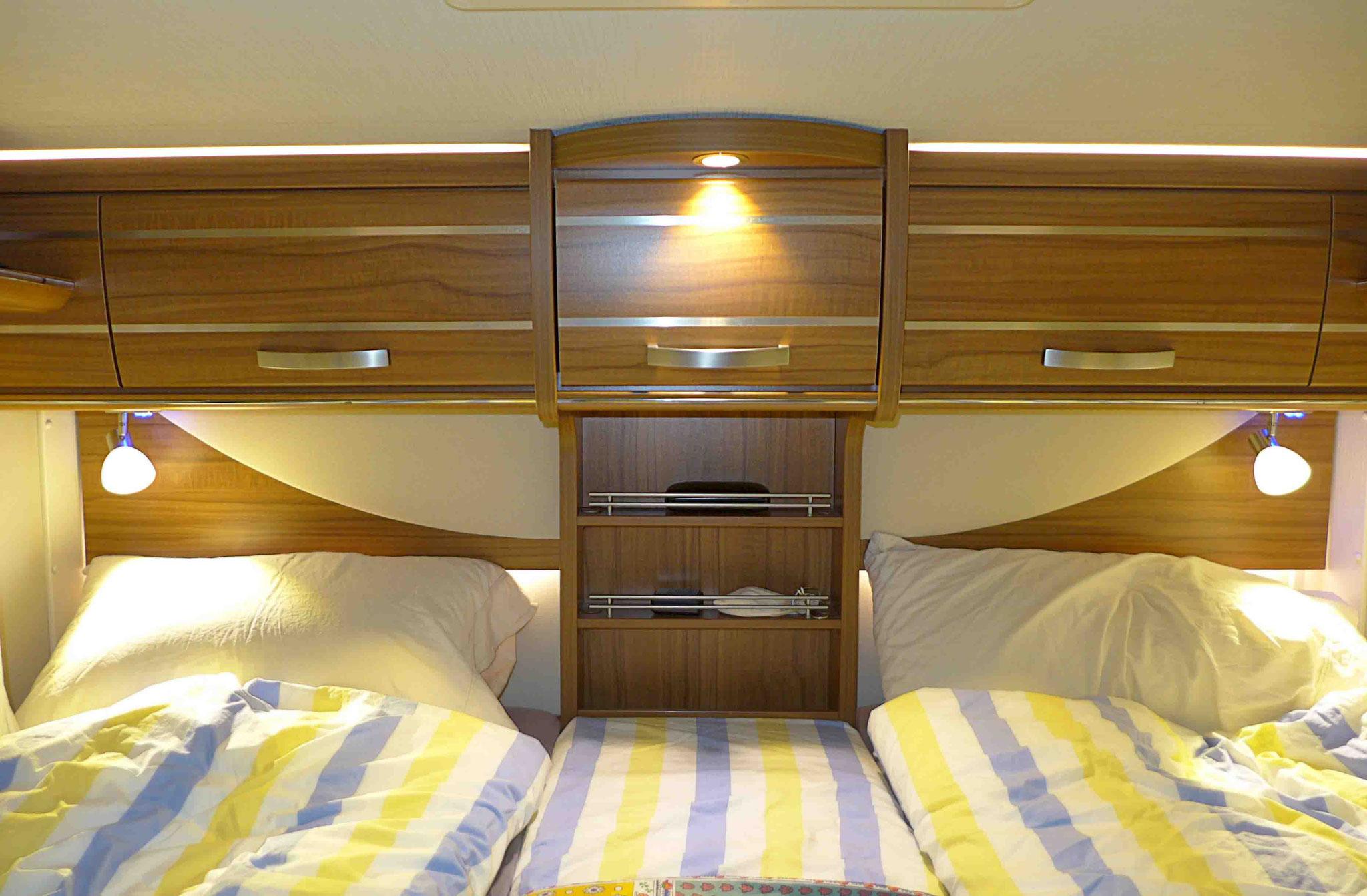 2er-Bett im Mercedes-Benz HYMER ML-T