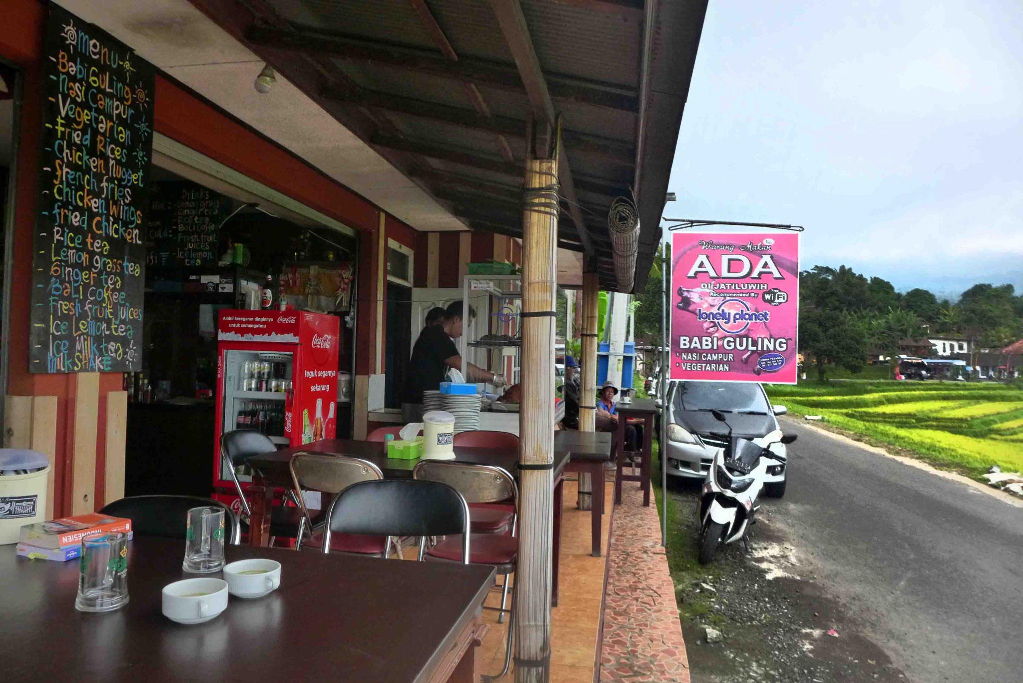 Straßenrestaurant an den Jatiluwih Reisterrassen