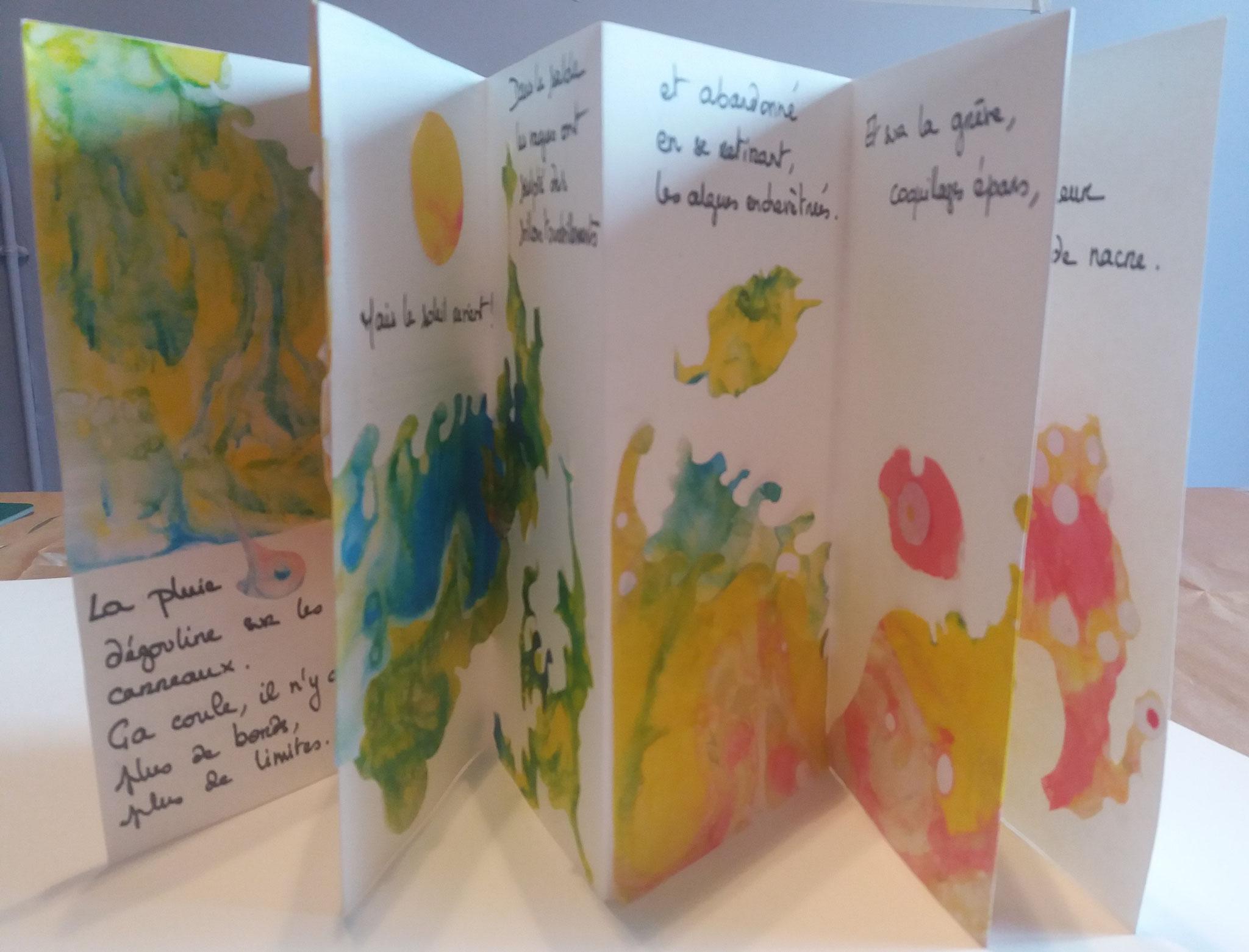 Merci aux participantes qui ont accepté la publication des photos de leur livre d'artiste livre unique.