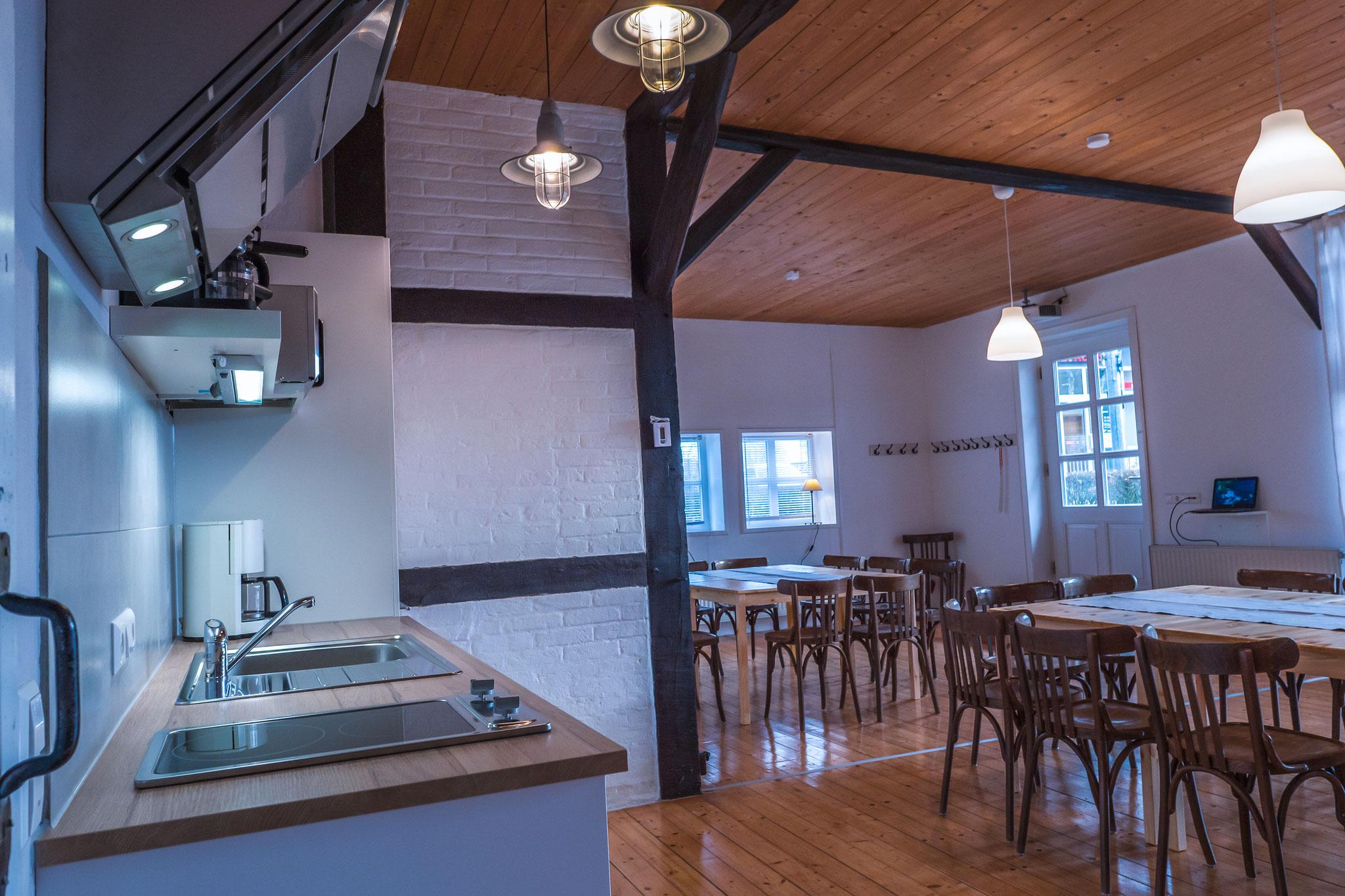 Seminarraum und Gruppenraum, Küche