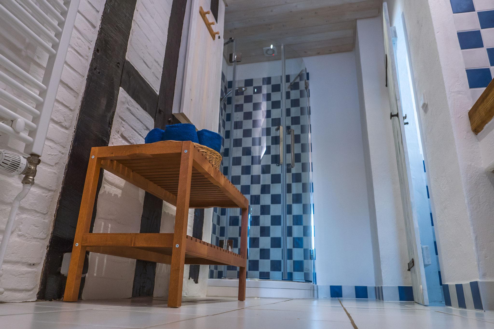 Seminarraum und Gruppenraum, Badezimmer, Dusche