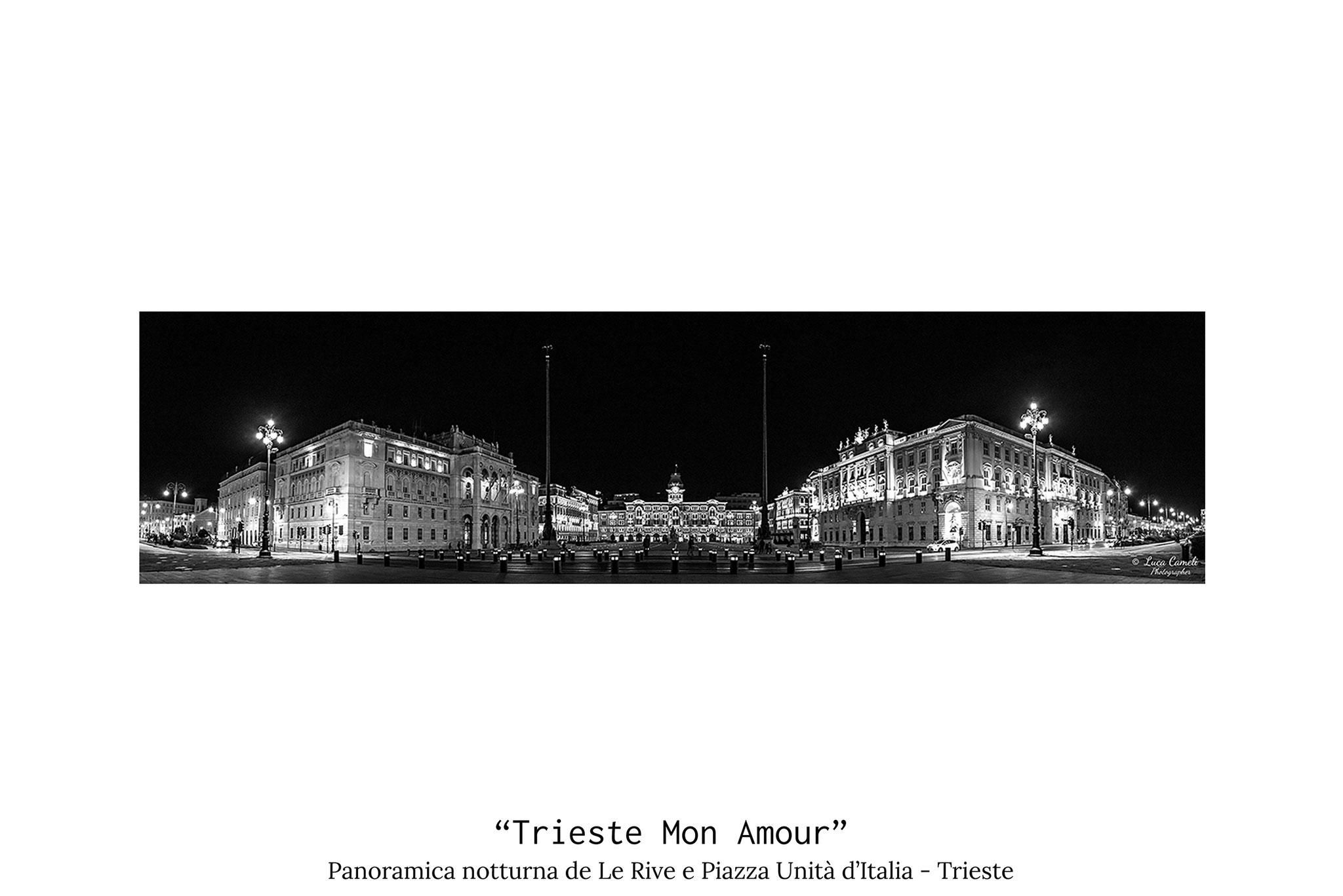 """Trieste Mon Amour"", Panoramica notturna di Piazza Unità d'Italia e de Le Rive. © Luca Cameli Photographer"