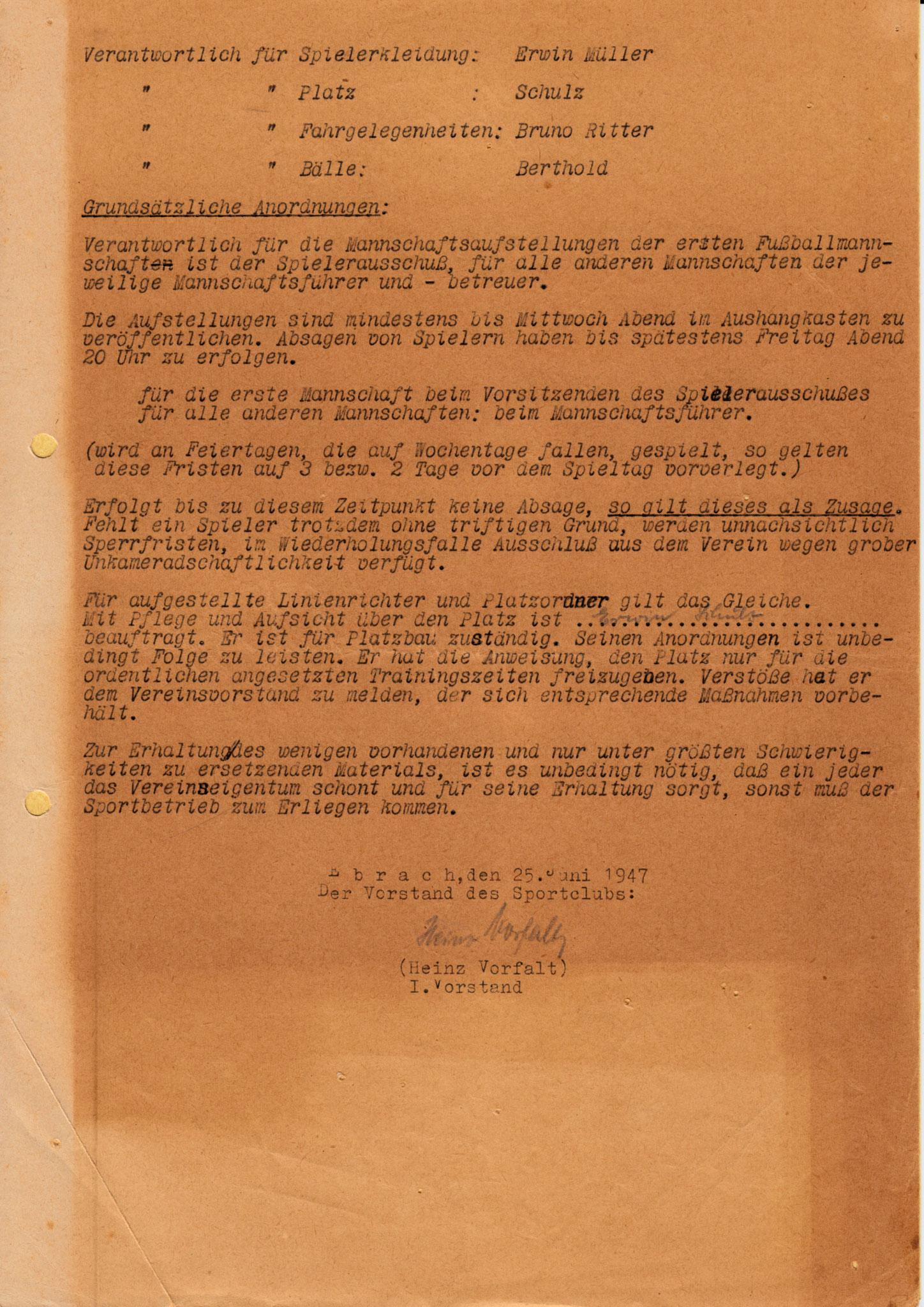 Was wurde bei den Neuwahlen 1947 beschlossen?