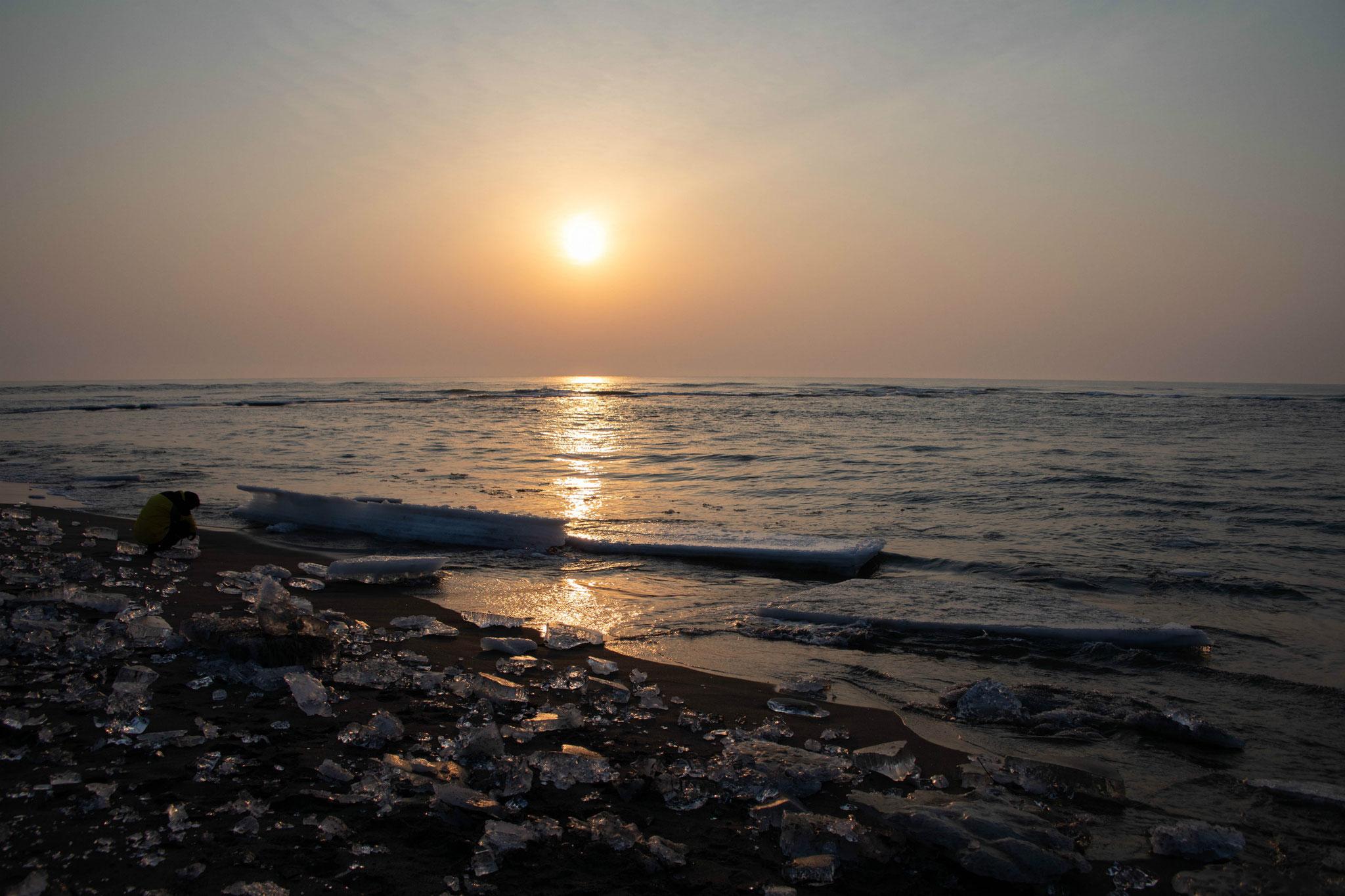 大津海岸のジュエリーアイス