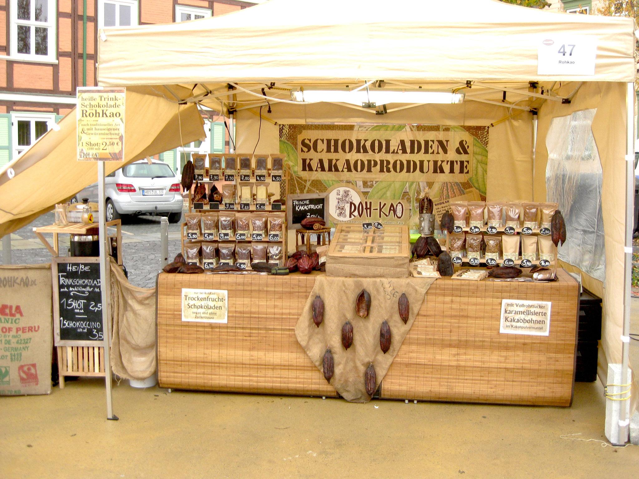 RohKao-Markststand auf der chocolArt 2014 in Wernigerode
