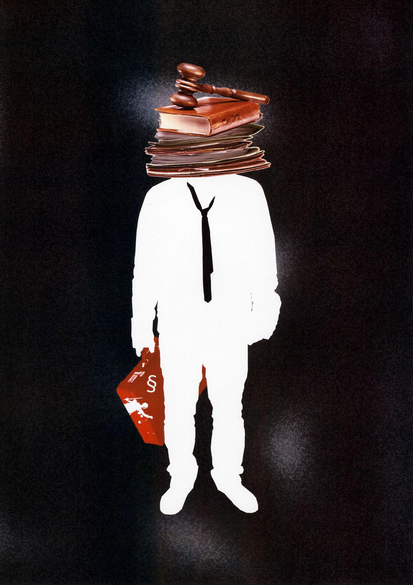 Galip der Rechtsanwalt - Illustration für Orhan Pamuks Buch ,,Das schwarze Buch``