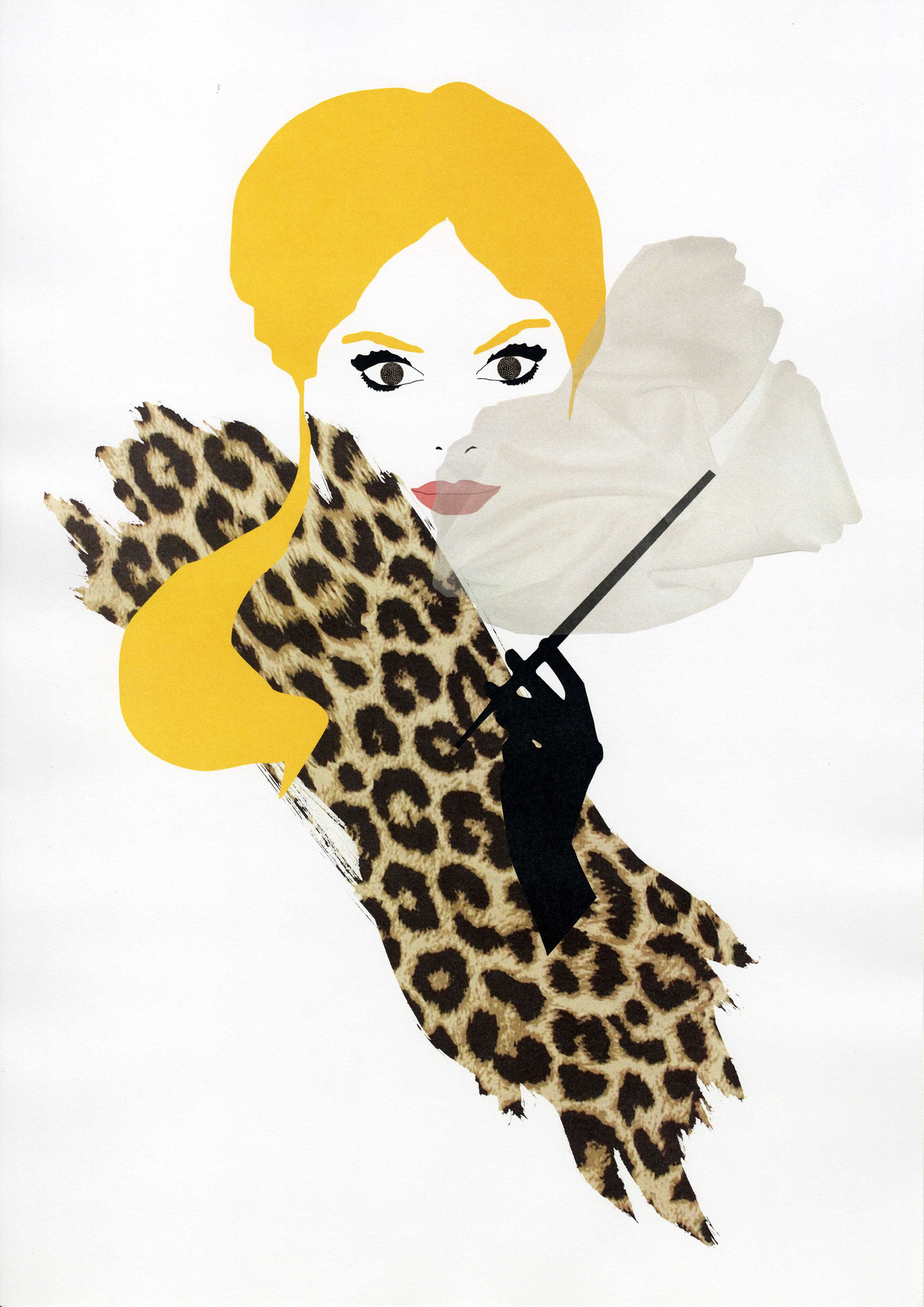 Rauchende Frau - Illustration für Orhan Pamuks Buch ,,Das schwarze Buch``