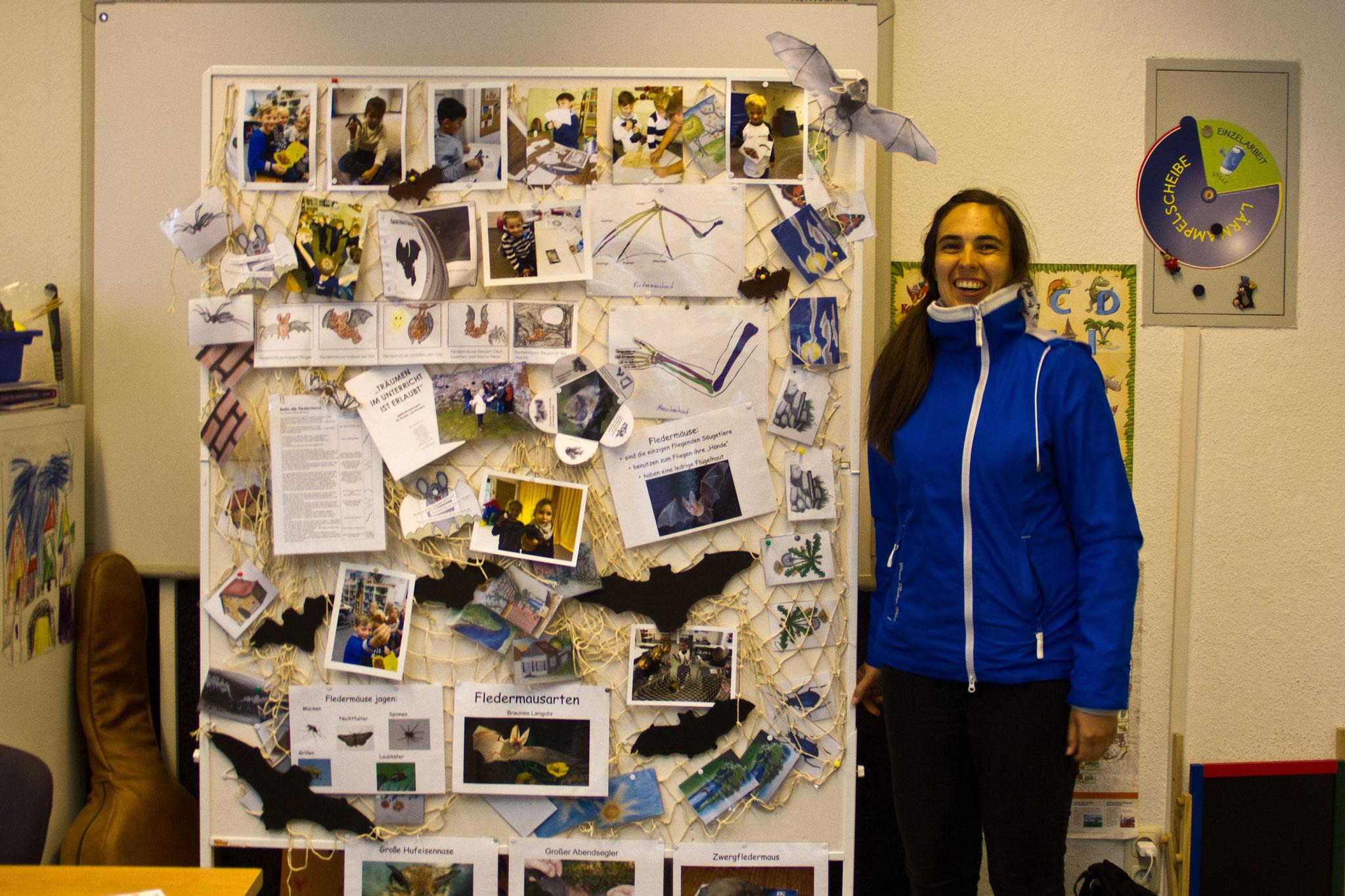 Angela Zimmermann an der Universitas mit dem Thema Fledermäuse.