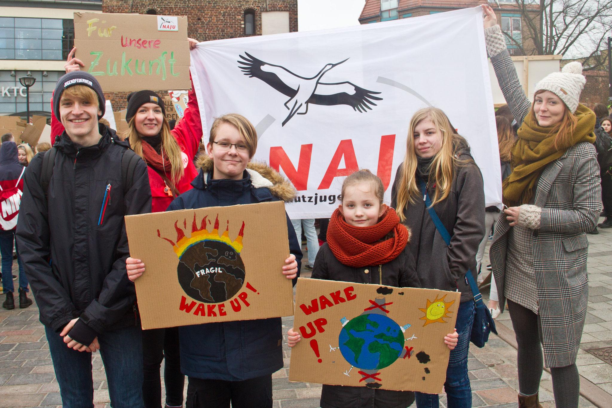Wir streiken für das Klima.