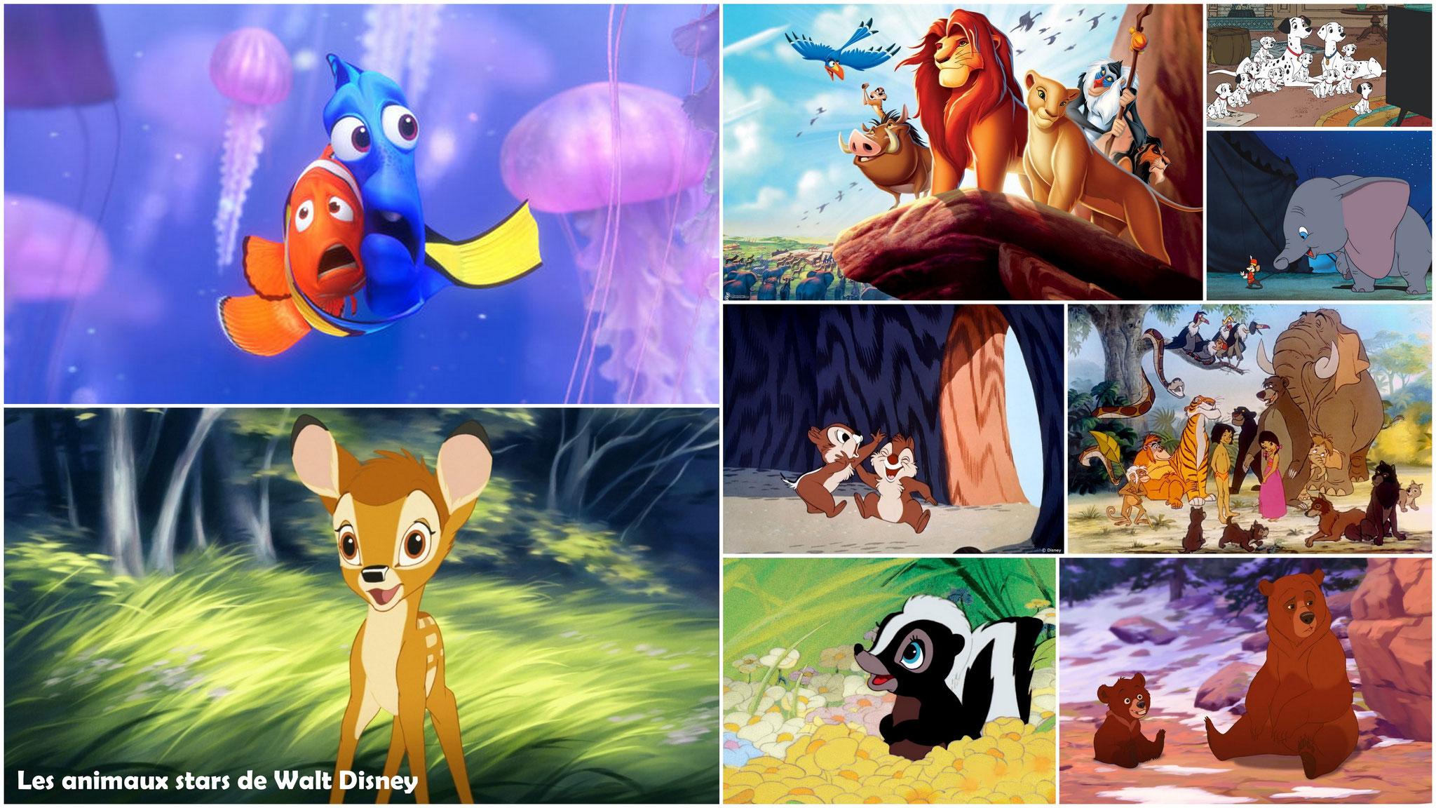 Les animaux stars de Walt Disney