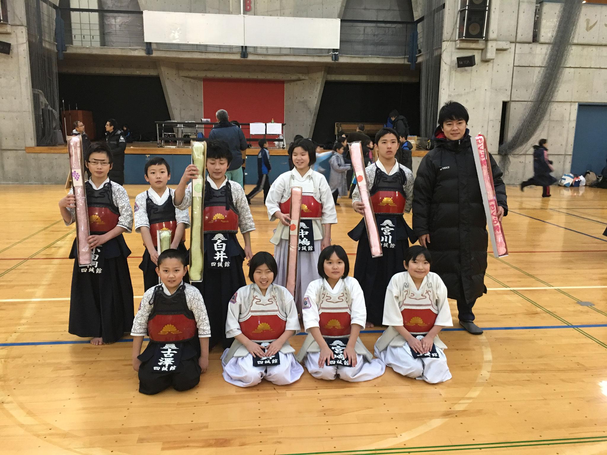 三島剣道連盟冬季小学生錬成会