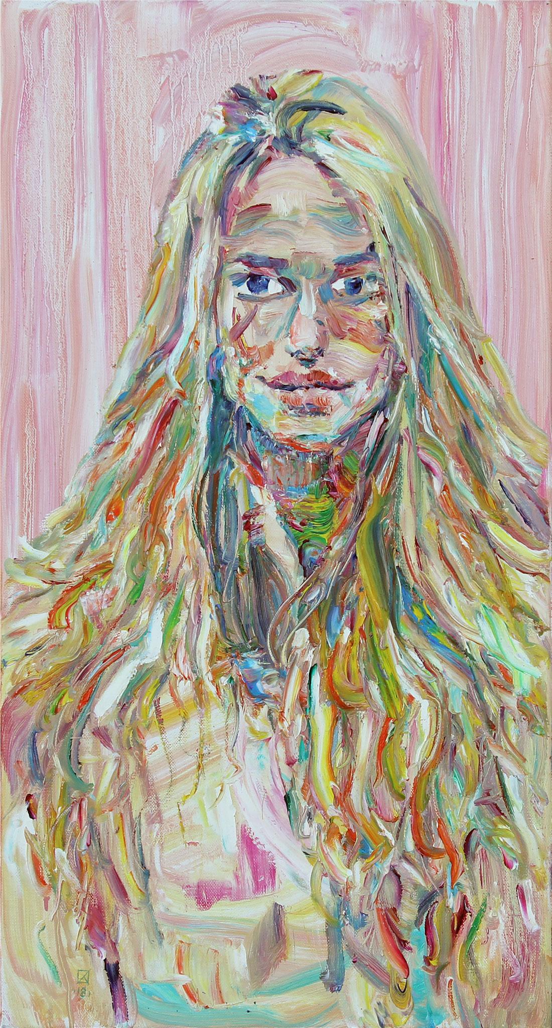 Lana. 2018. Oil on canvas. 75 х 40