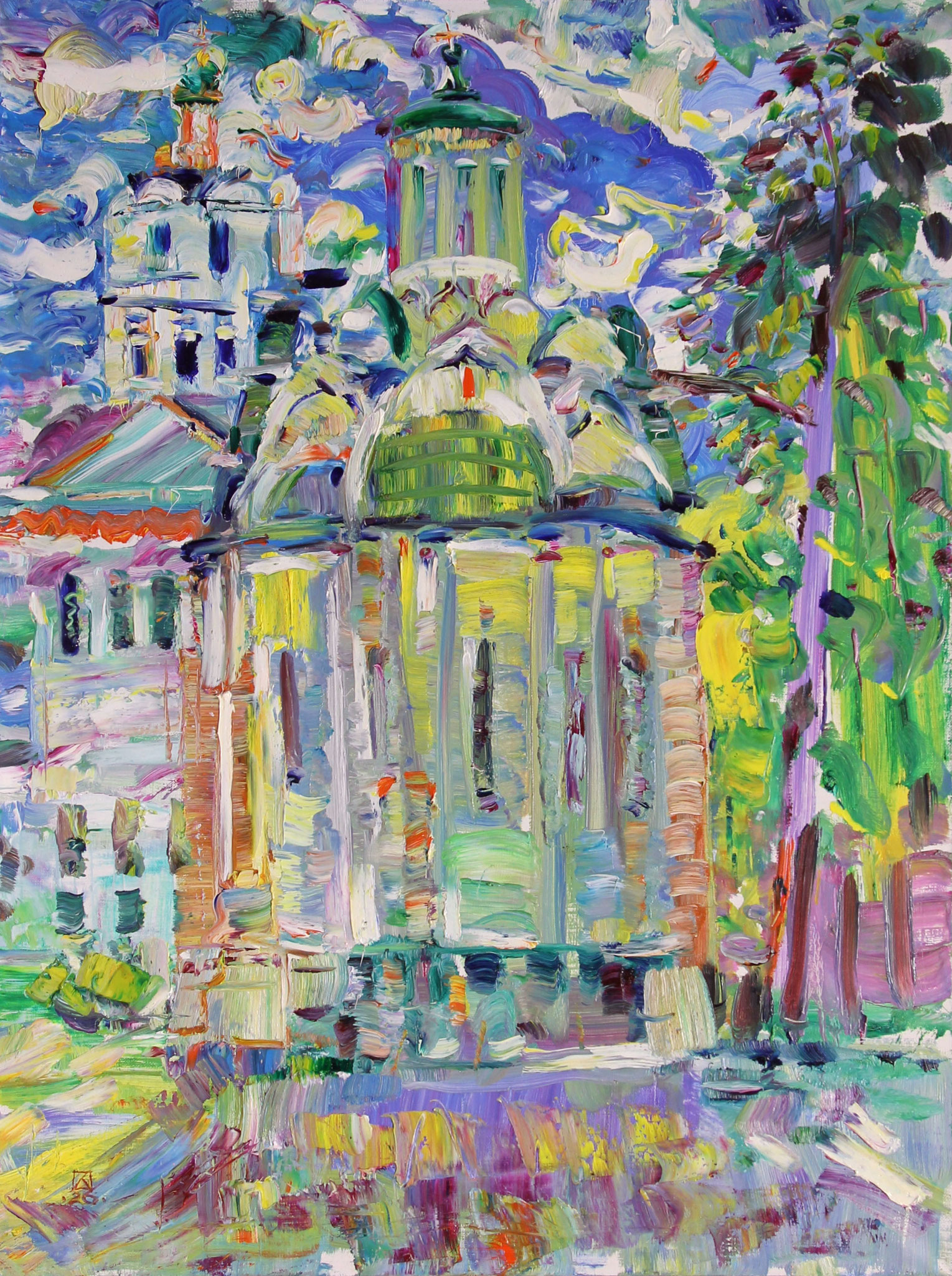 Spassky Cathedral. 2020. Oil on canvas. 80 x 60